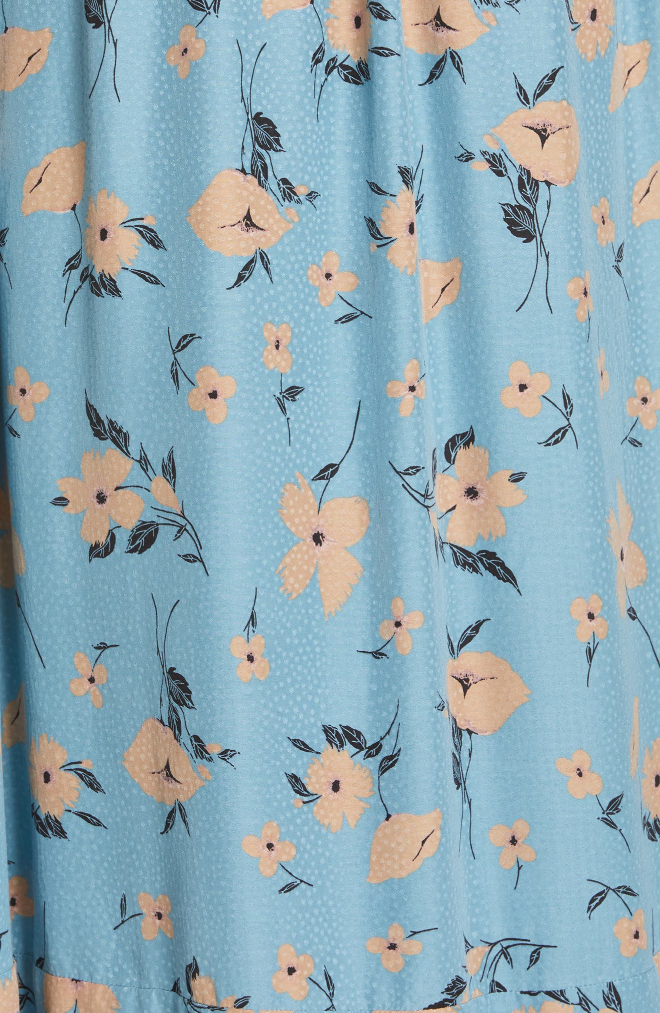 REBECCA TAYLOR,                             Daniella Floral Jacquard Silk Blend Dress,                             Alternate thumbnail 5, color,                             LAGOON COMBO