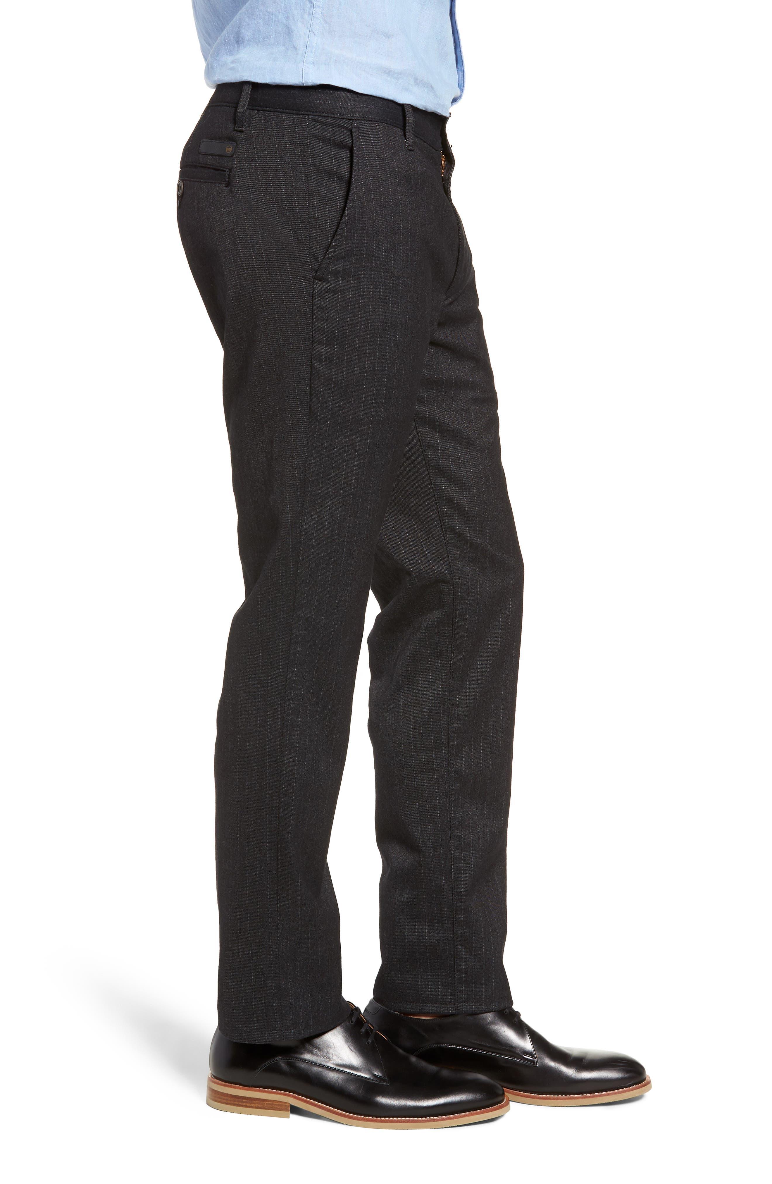 Marshall Slim Fit Pinstripe Pants,                             Alternate thumbnail 3, color,                             HEATHERED MELANGE BLACK