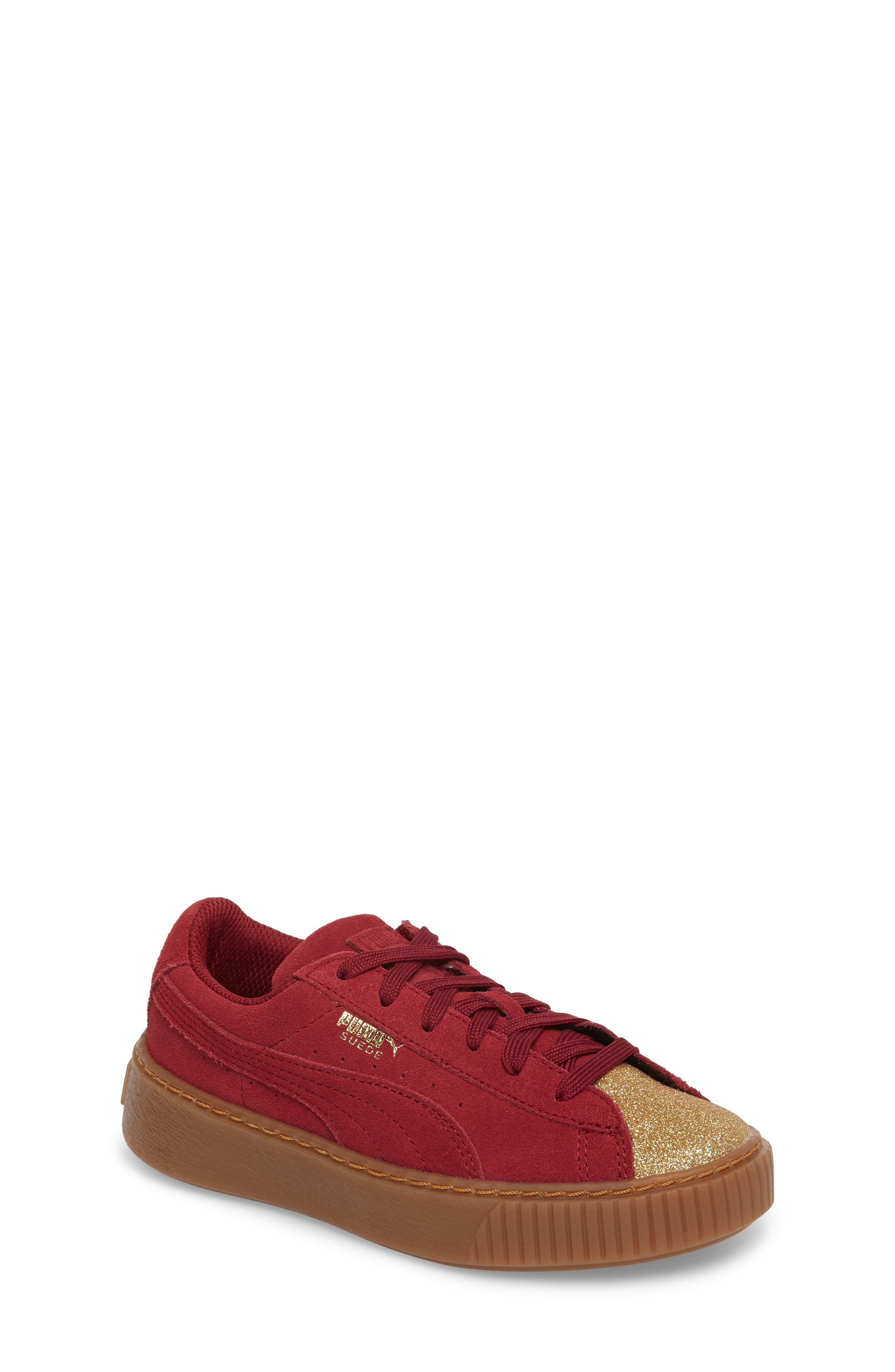 Suede Platform Glam PS Sneaker,                             Main thumbnail 5, color,