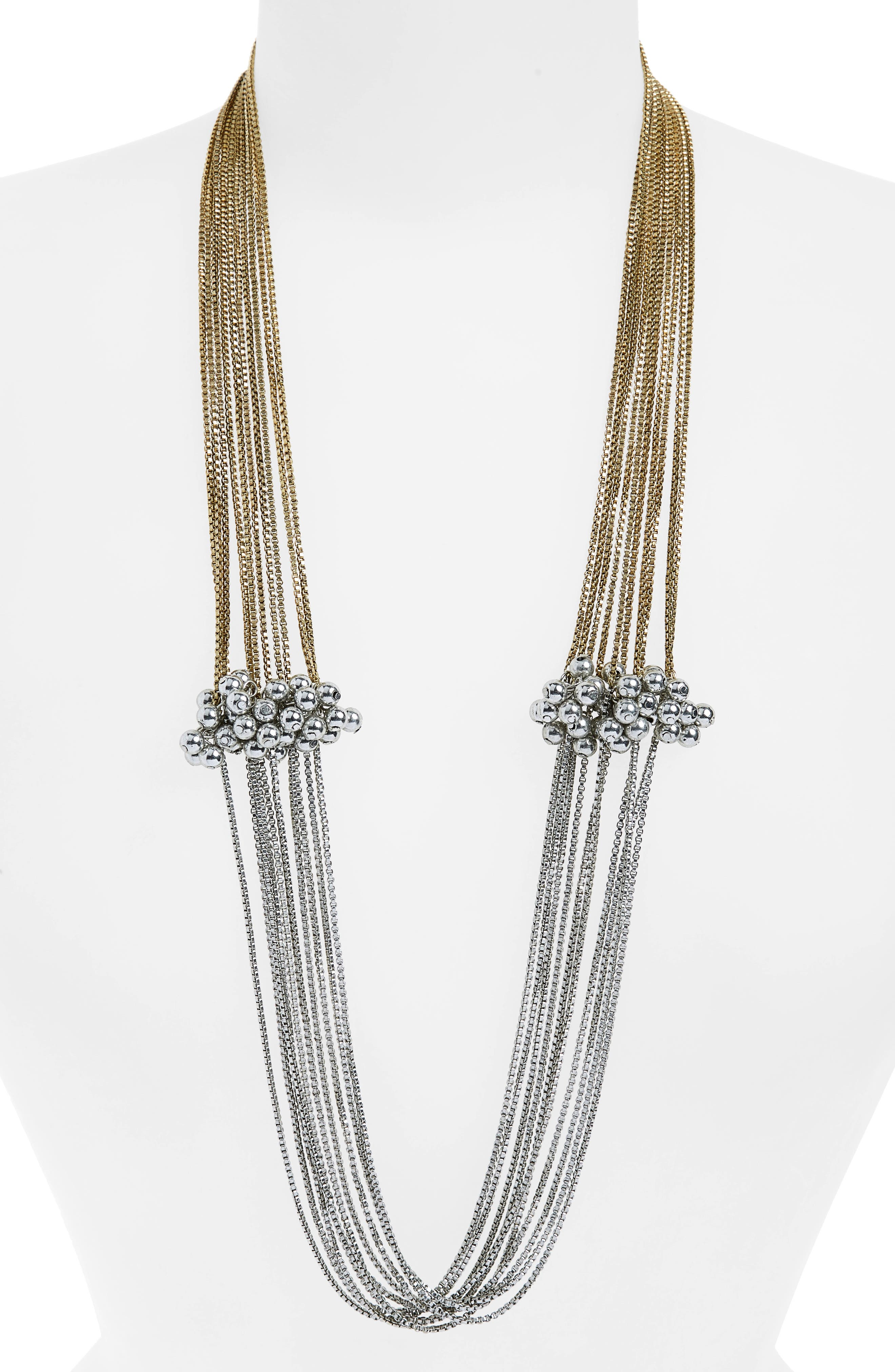 SHIRALEAH Serendipity Multistrand Necklace, Main, color, 710