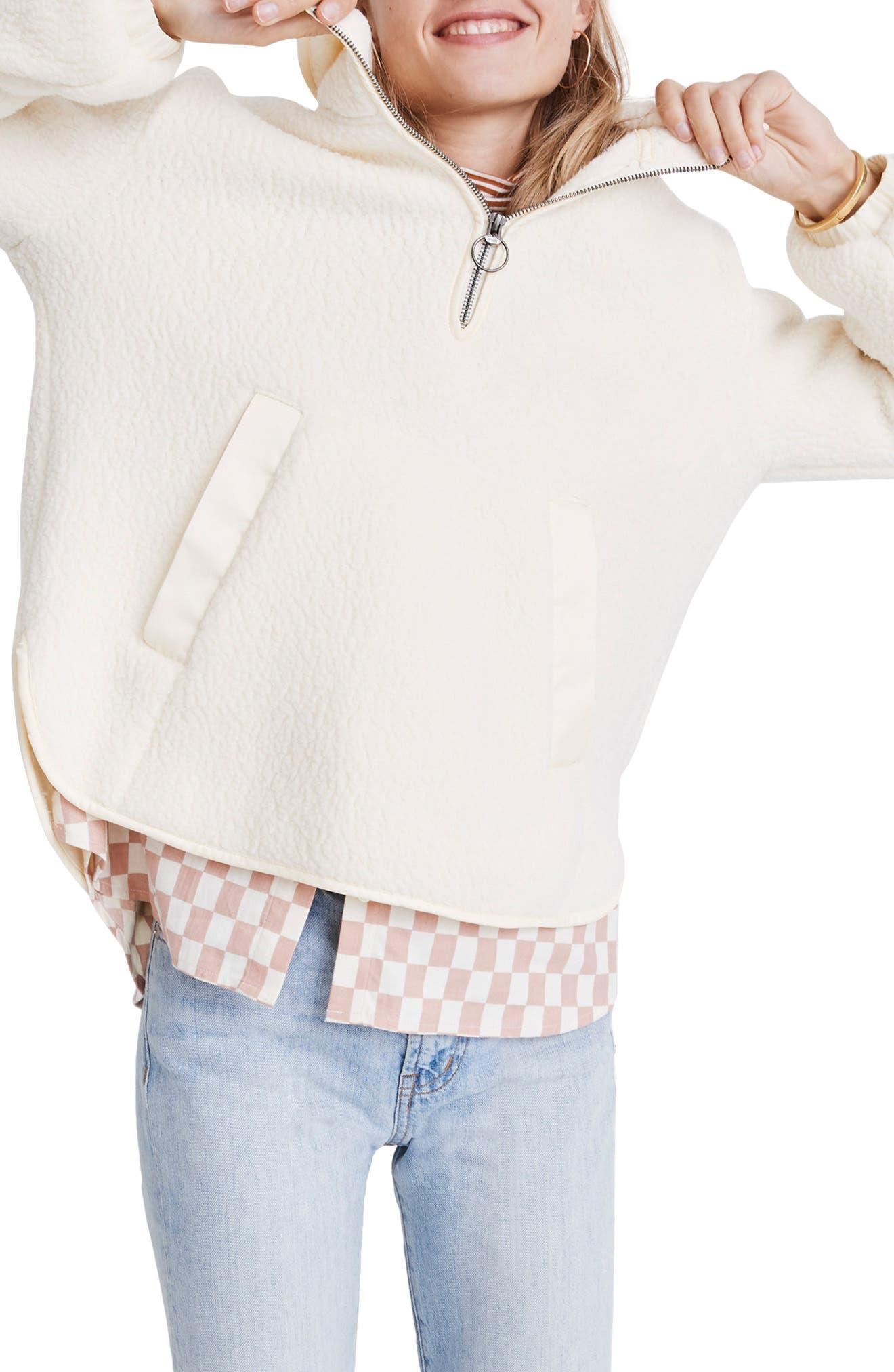 Madewell Polartec Fleece Popover Jacket