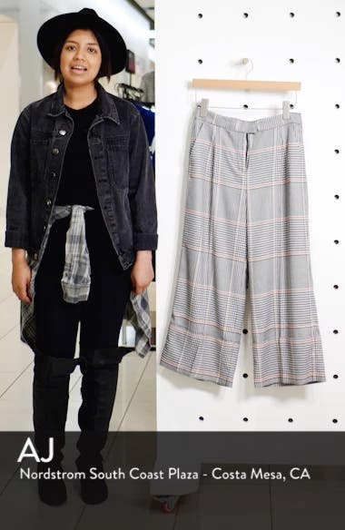 x Atlantic-Pacific Plaid Wide Leg Crop Pants, sales video thumbnail