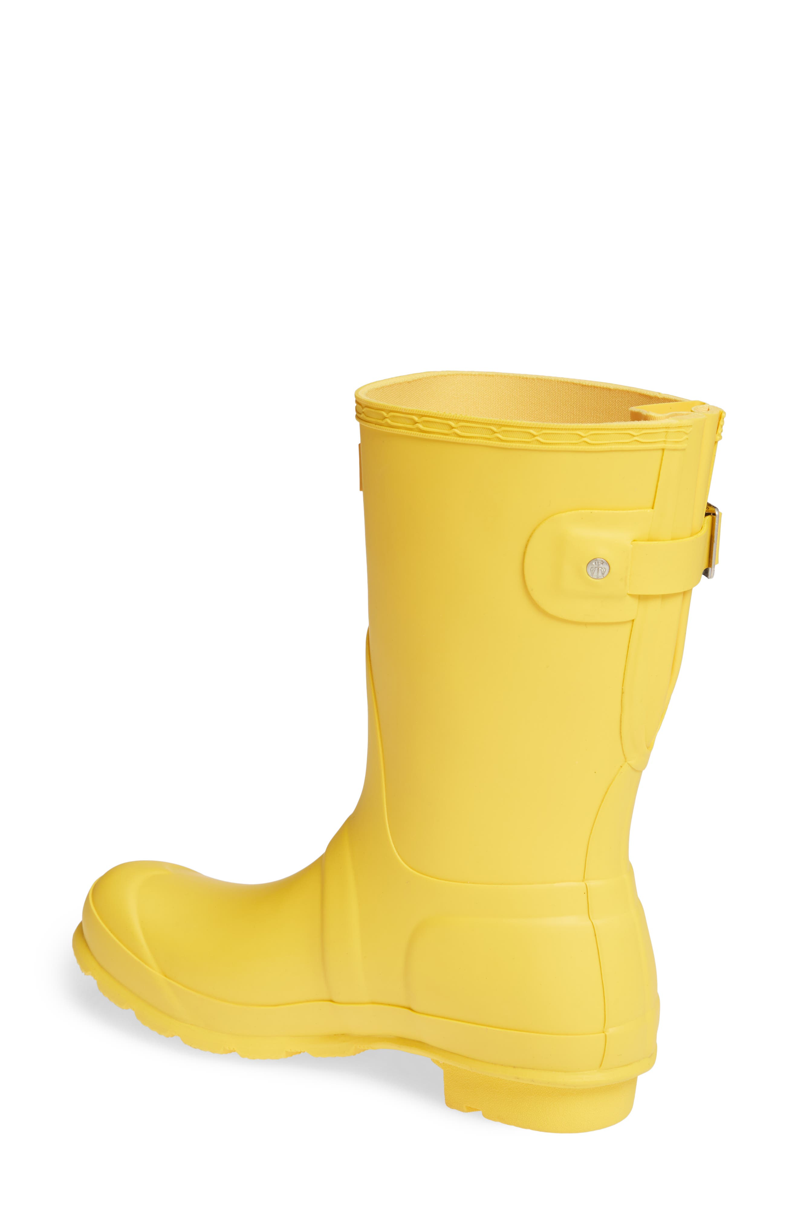 Original Short Back Adjustable Rain Boot,                             Alternate thumbnail 2, color,                             YELLOW