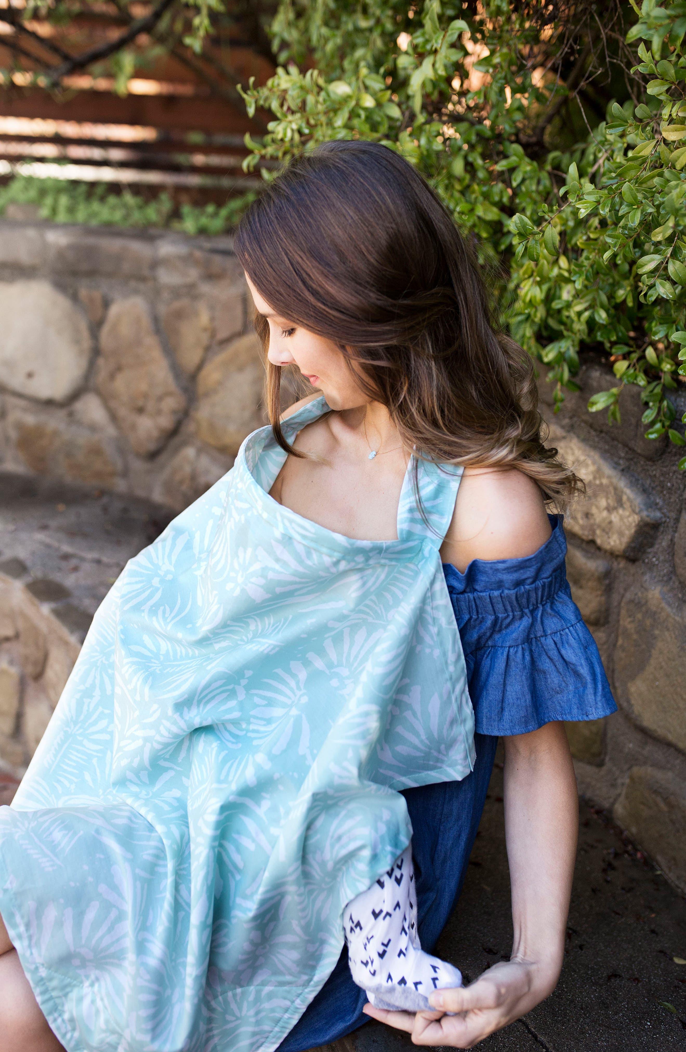 Nursing Cover & Burp Cloth Set,                             Alternate thumbnail 5, color,                             400