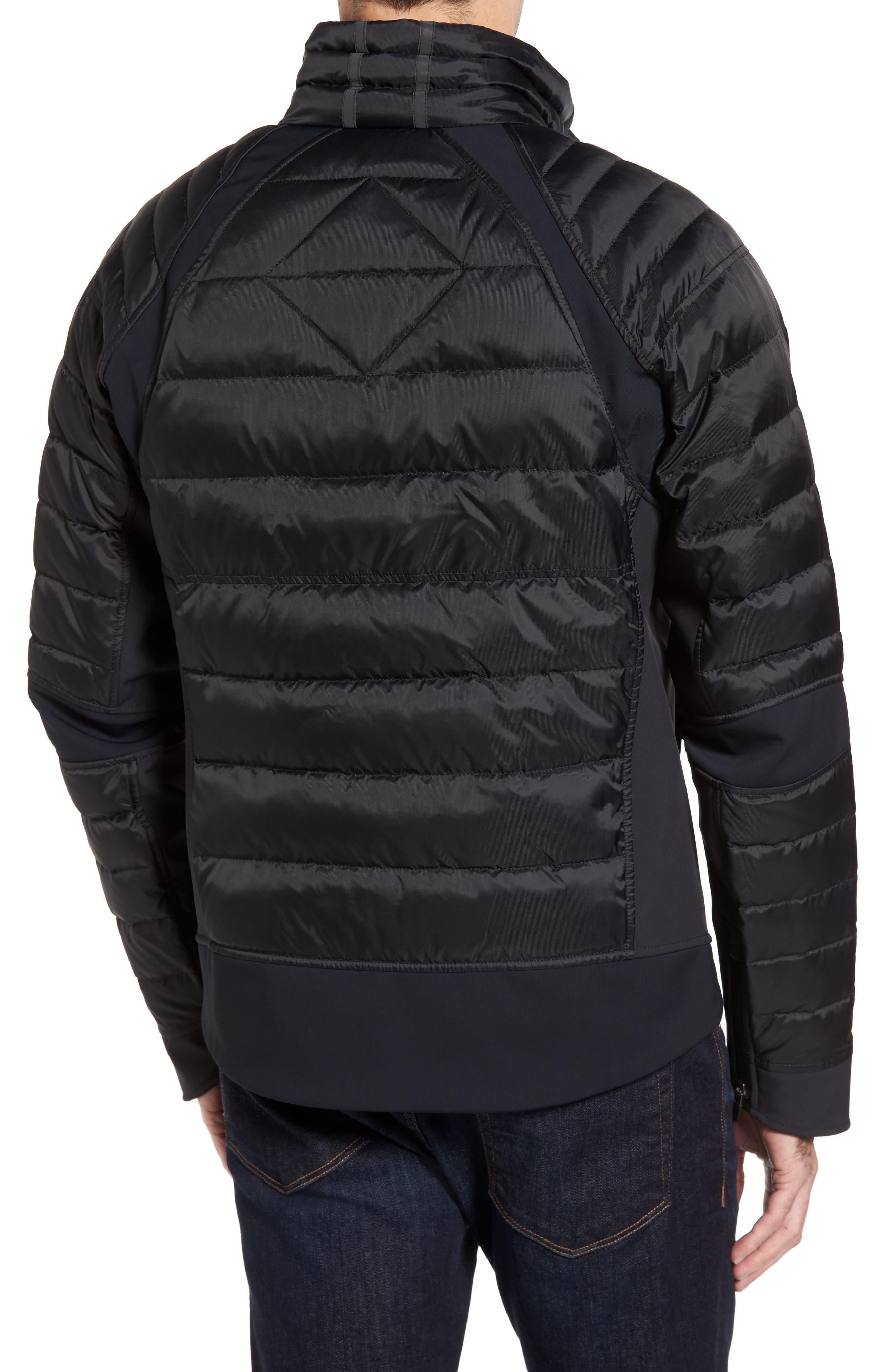 HyBridge Perren  Slim Fit Packable Down Jacket,                             Alternate thumbnail 2, color,                             BLACK