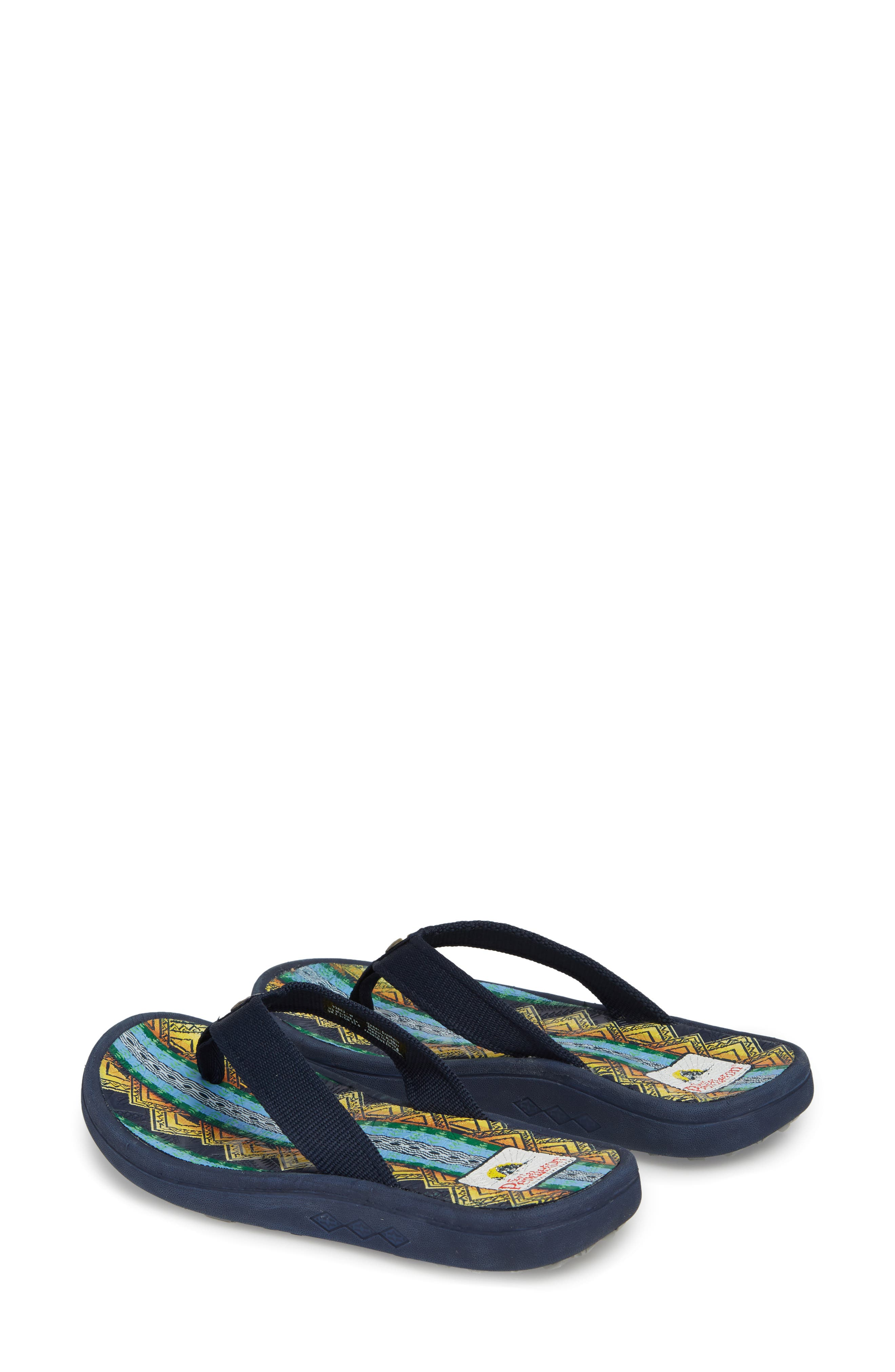 Pendleton American Treasures Flip Flop,                             Alternate thumbnail 3, color,                             NAVY