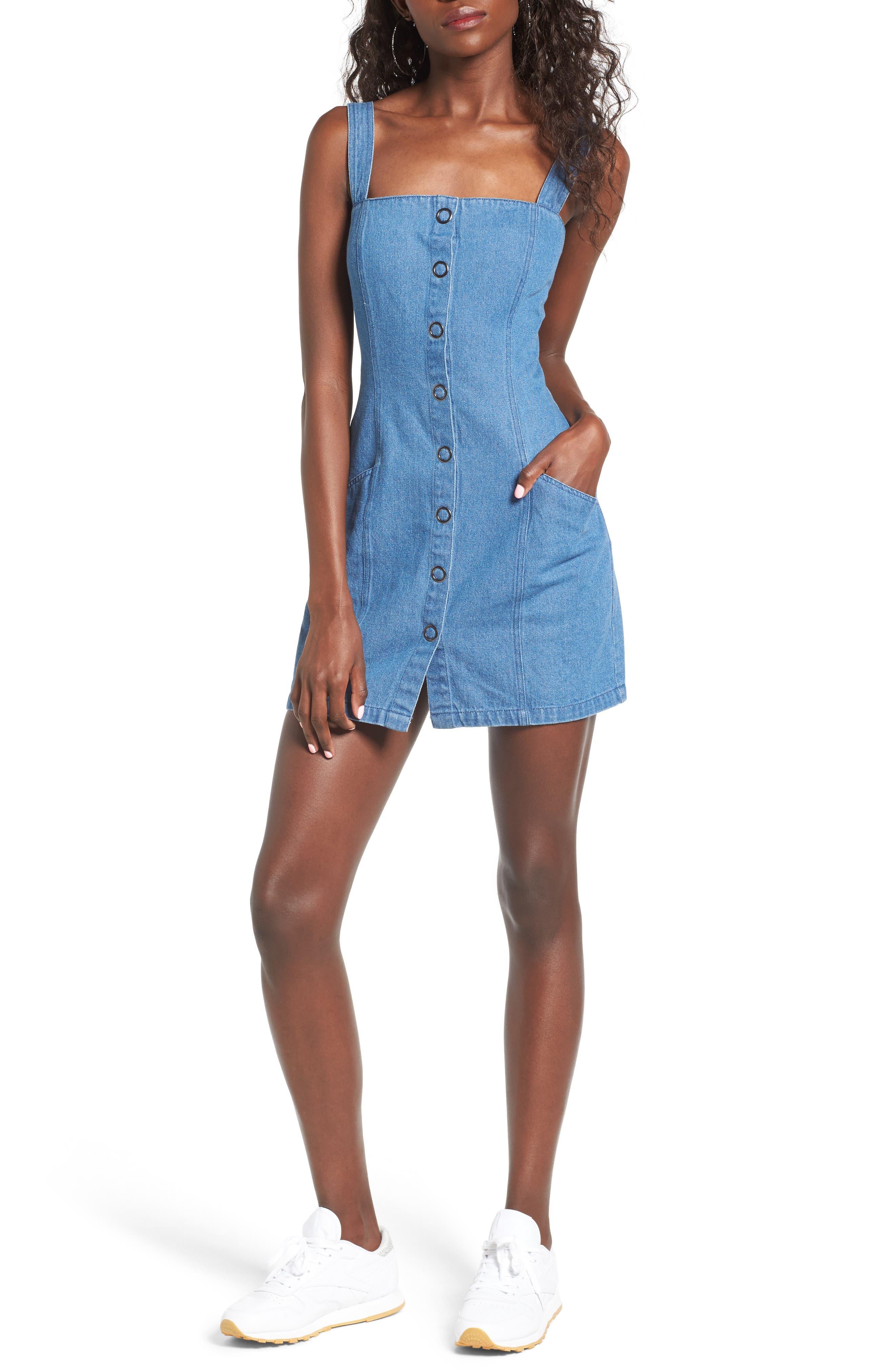 Vagabond Denim Dress,                         Main,                         color, 400