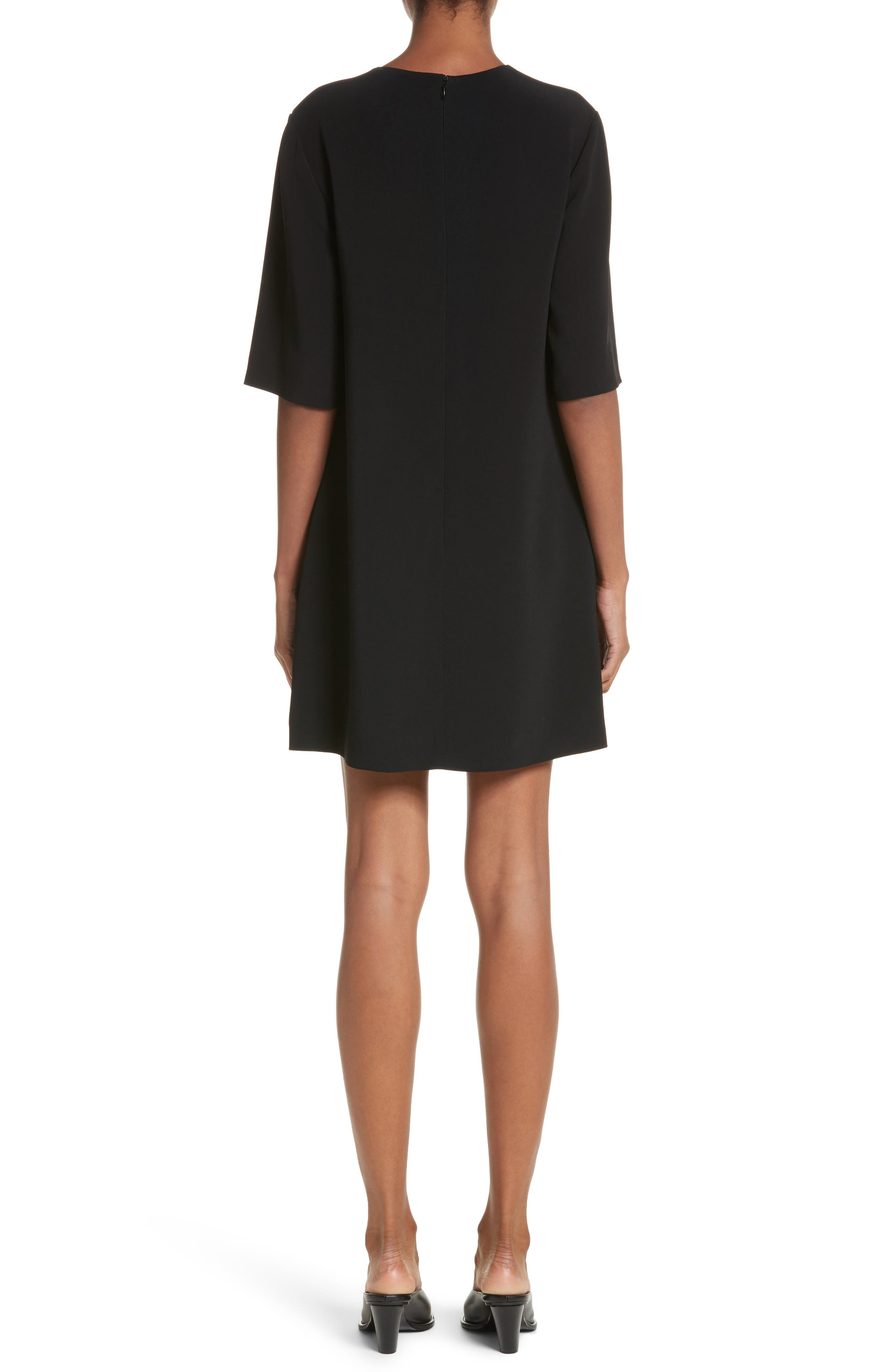 Volcano Embroidered Stretch Cady T-Shirt Dress,                             Alternate thumbnail 2, color,                             001