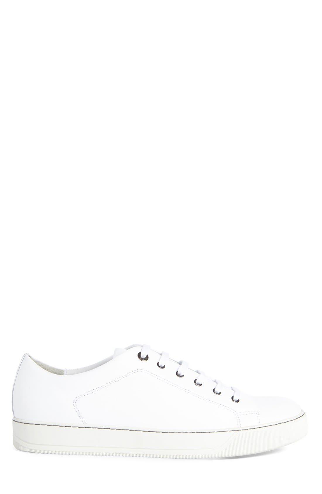 Low Top Cap Toe Sneaker,                             Alternate thumbnail 4, color,                             101