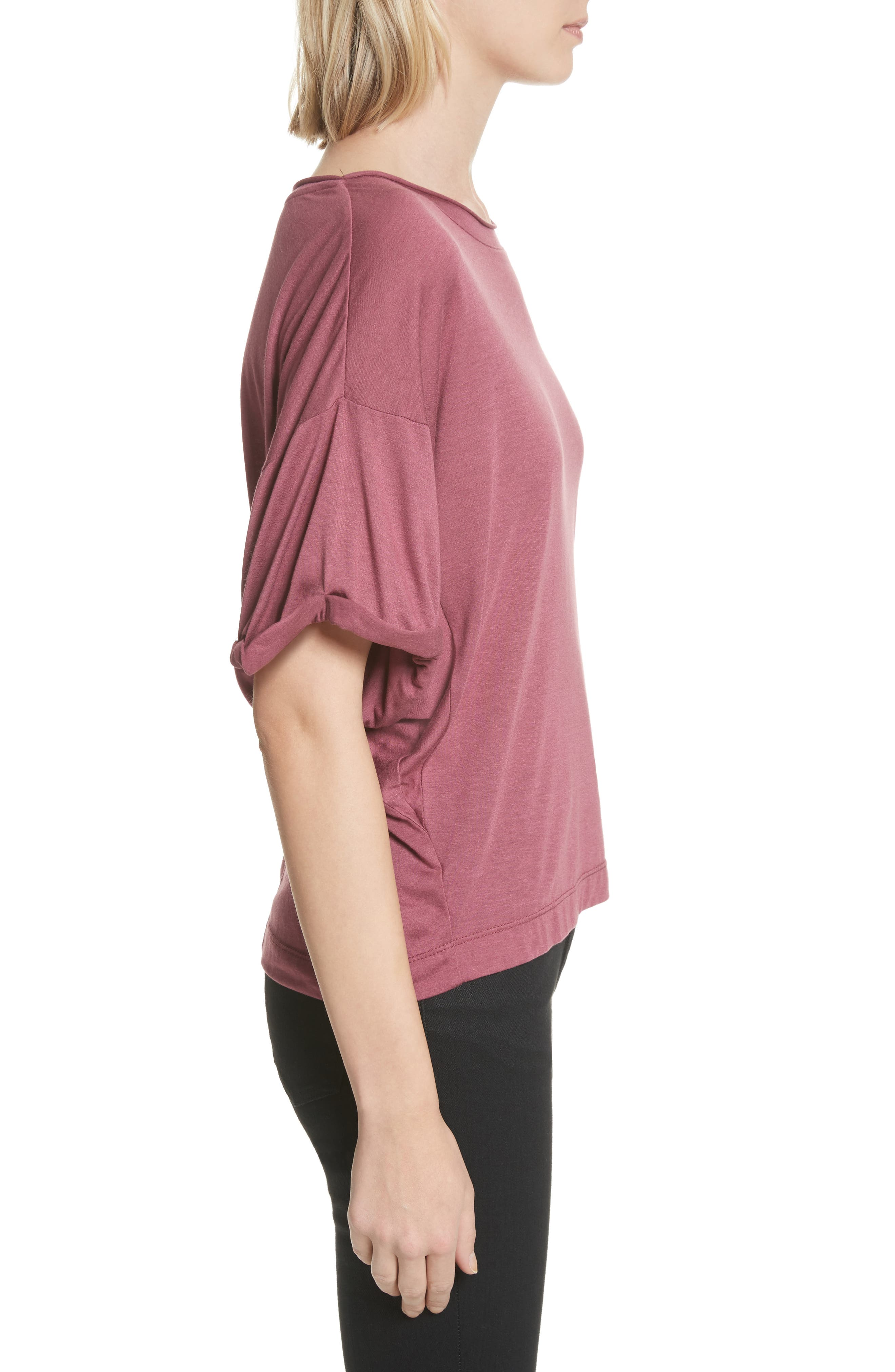 Perfect Boatneck Tee,                             Alternate thumbnail 3, color,