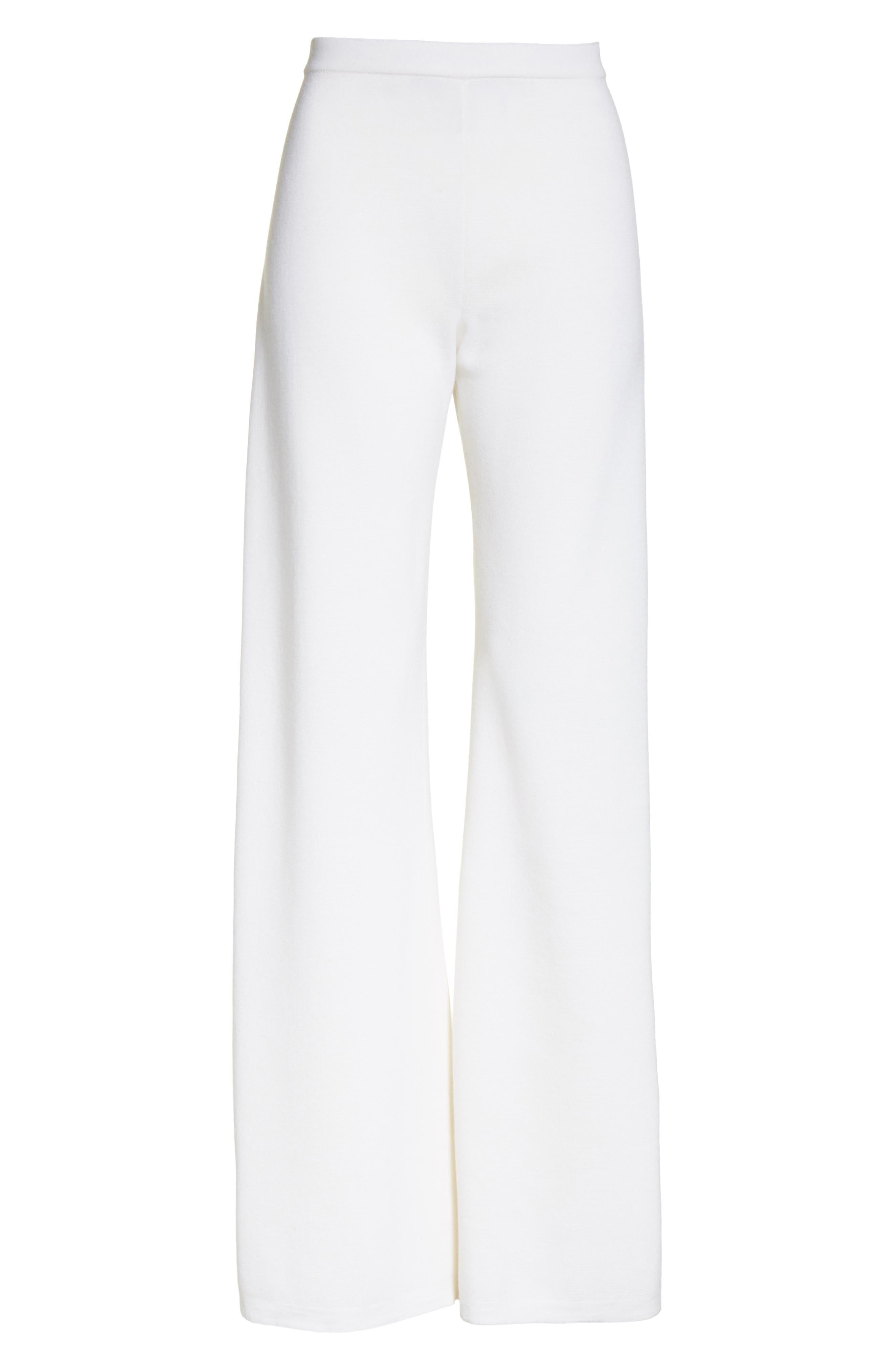 Brando Wool Wide Leg Pants,                             Alternate thumbnail 6, color,                             110