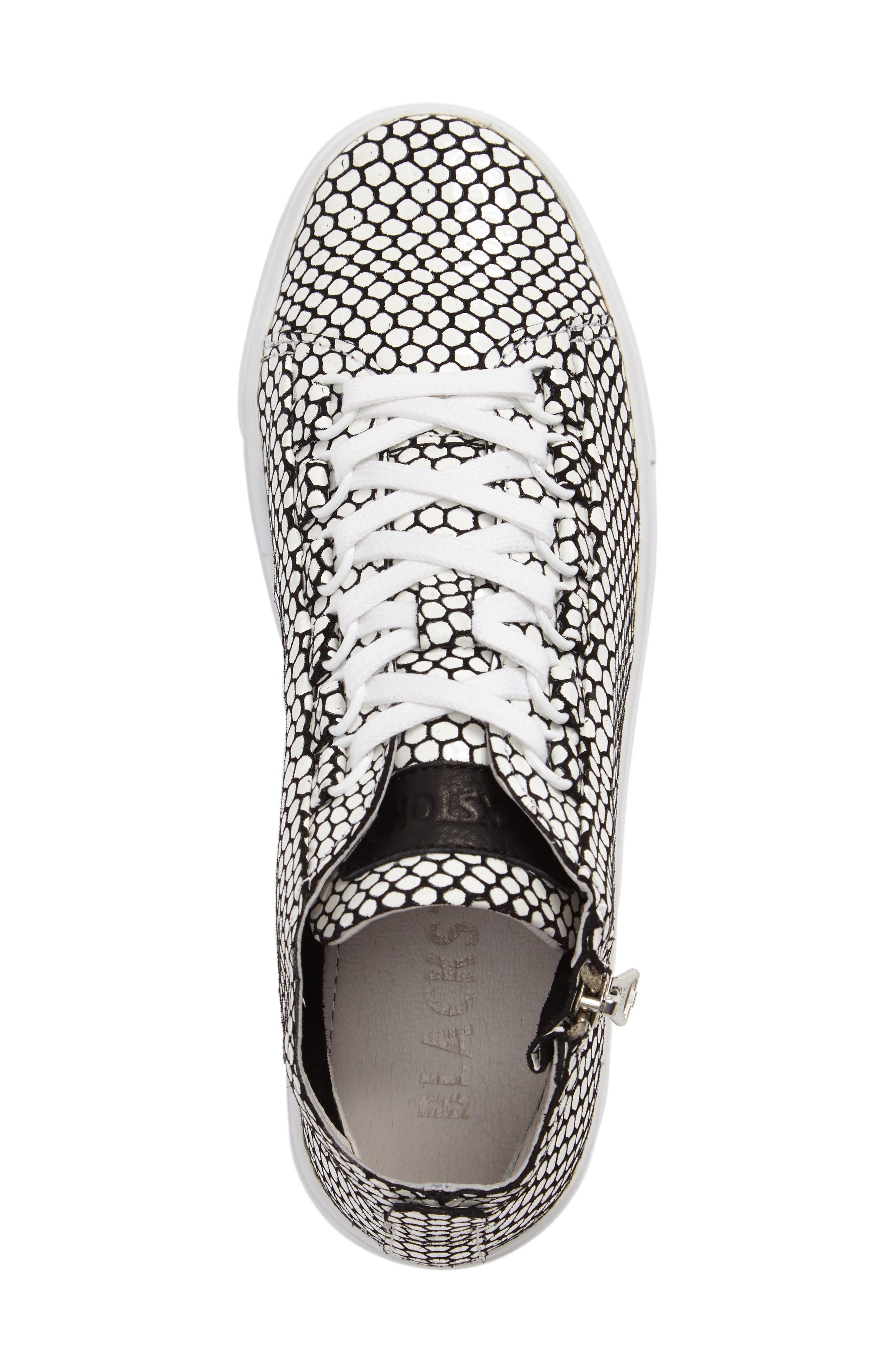 NL30 Midi Sneaker,                             Alternate thumbnail 5, color,                             WHITE HONEY LEATHER