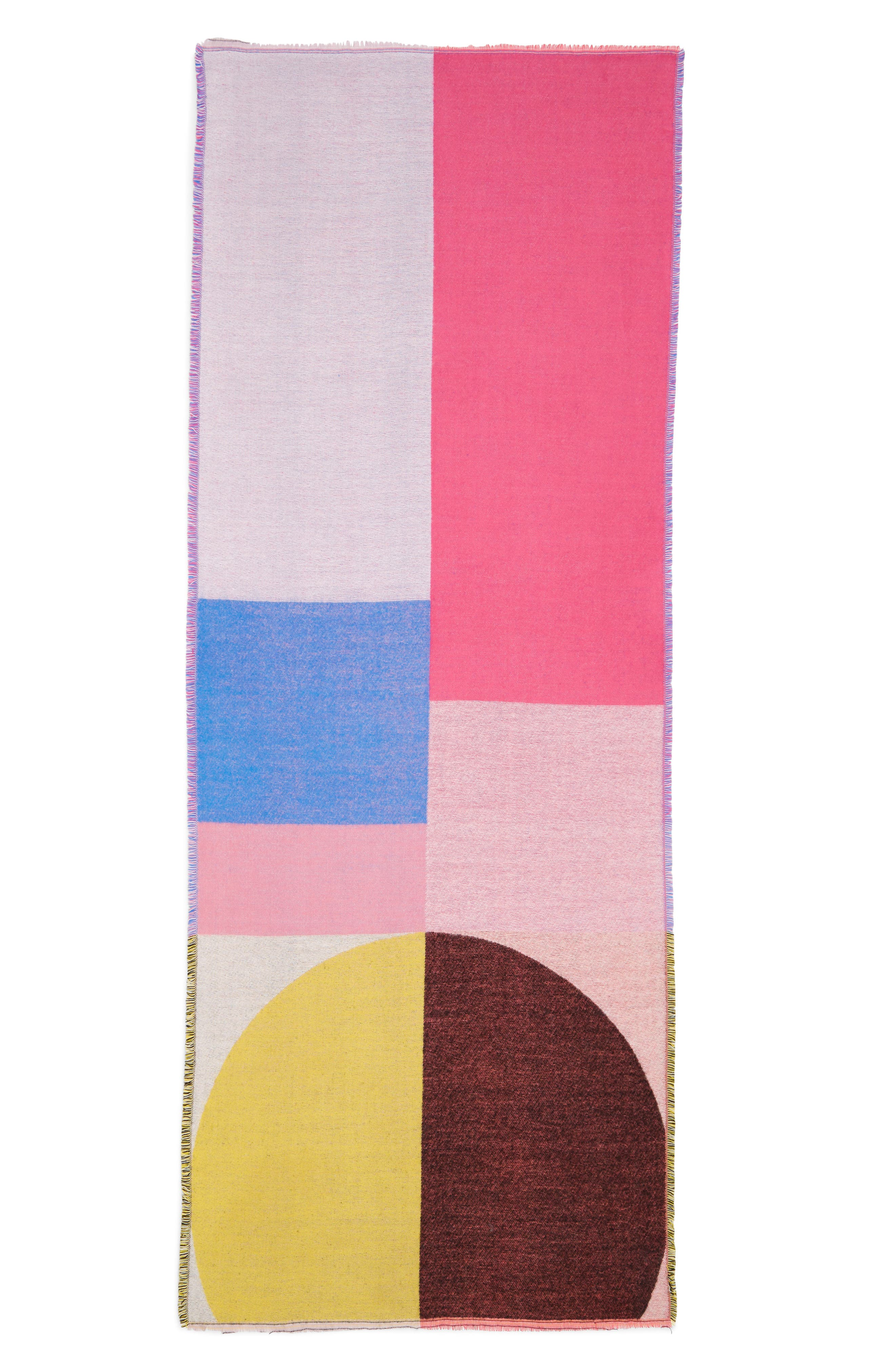 Colorblock Oblong Scarf,                             Alternate thumbnail 2, color,                             PINK MULTI