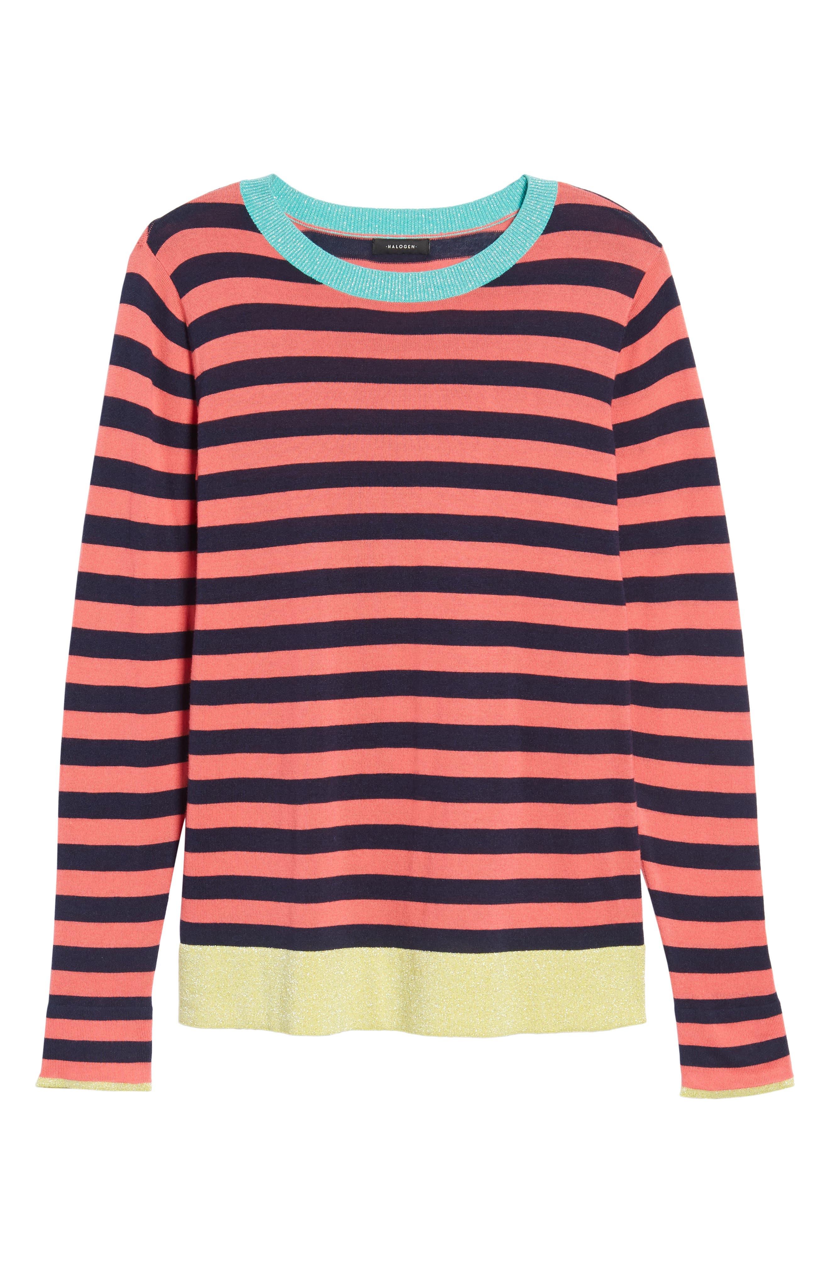 Colorblock Stripe Sweater,                             Alternate thumbnail 24, color,
