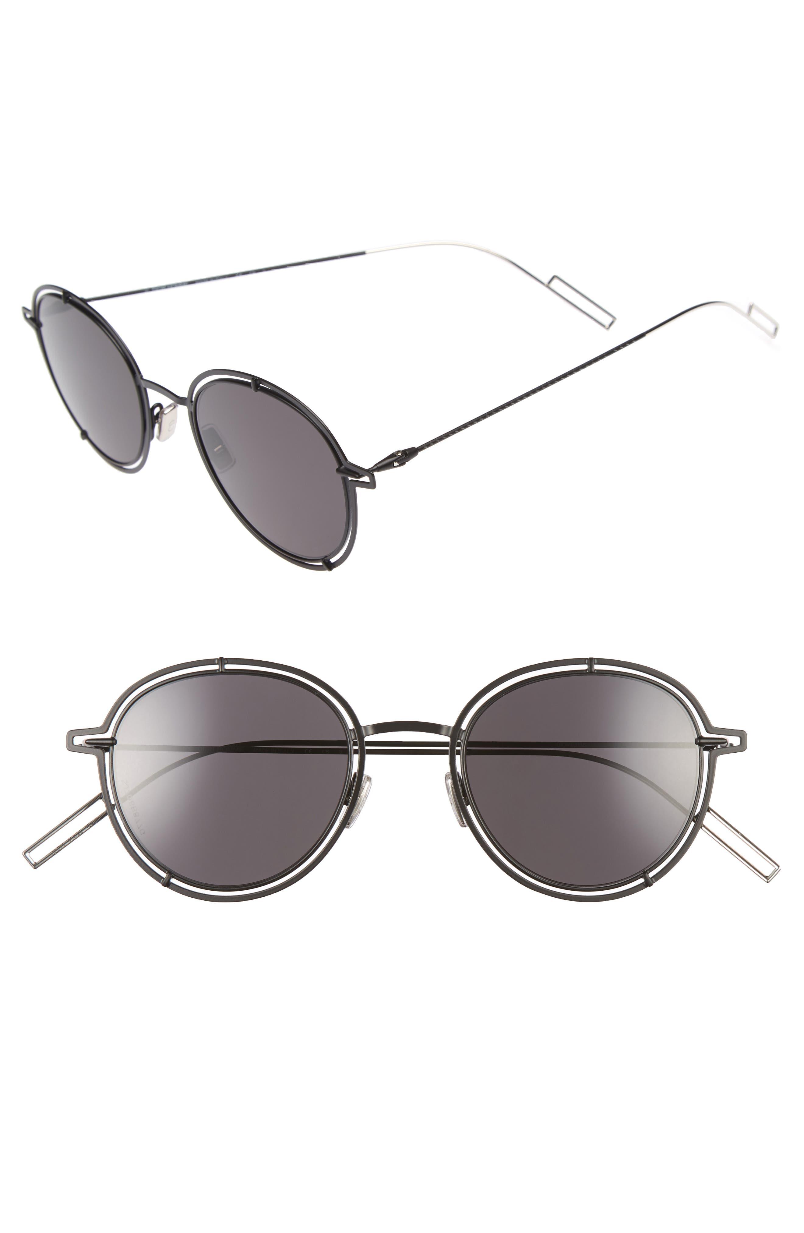 49mm Round Sunglasses,                         Main,                         color,