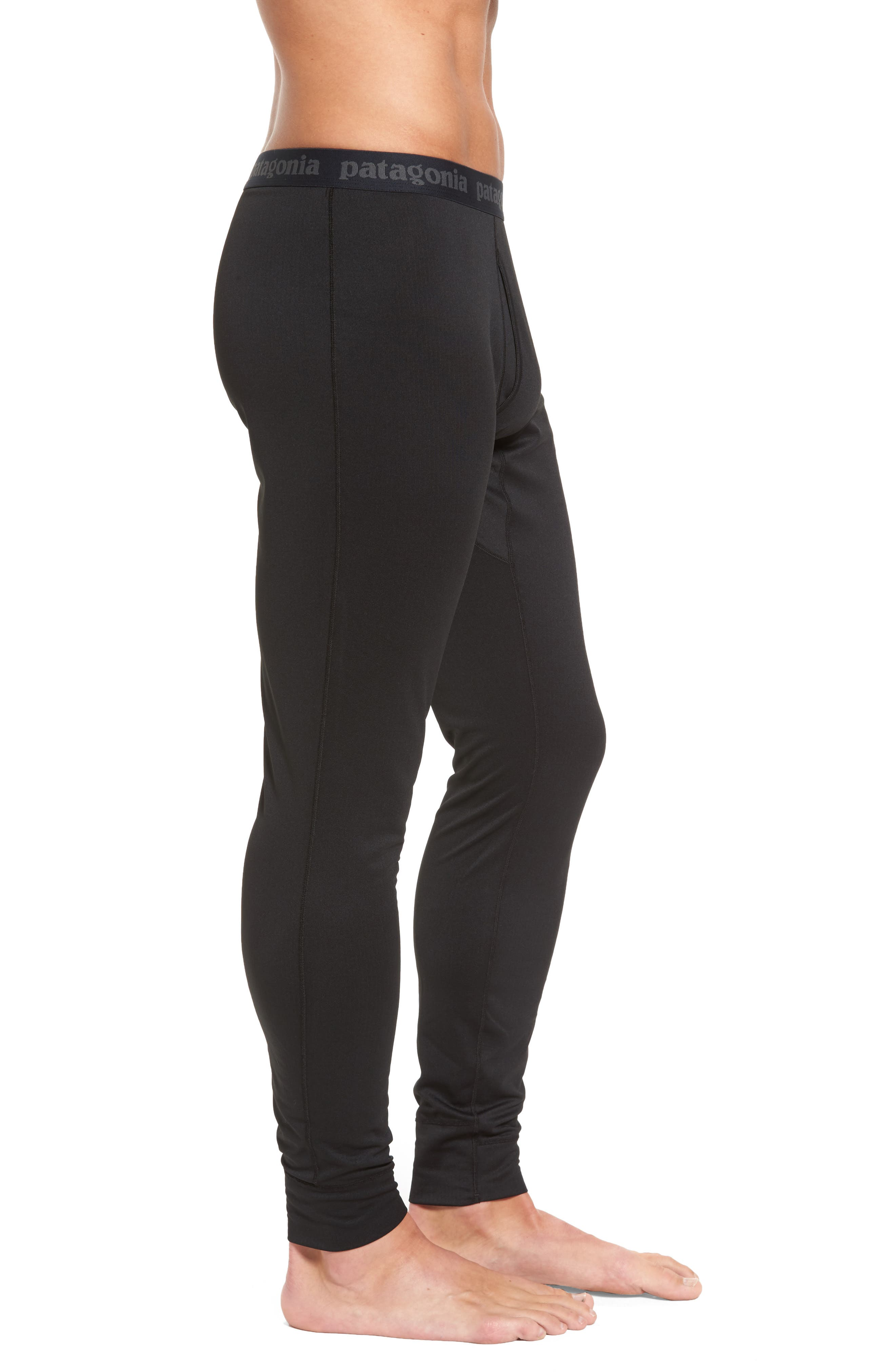 Capilene Midweight Base Layer Tights,                             Alternate thumbnail 3, color,                             001