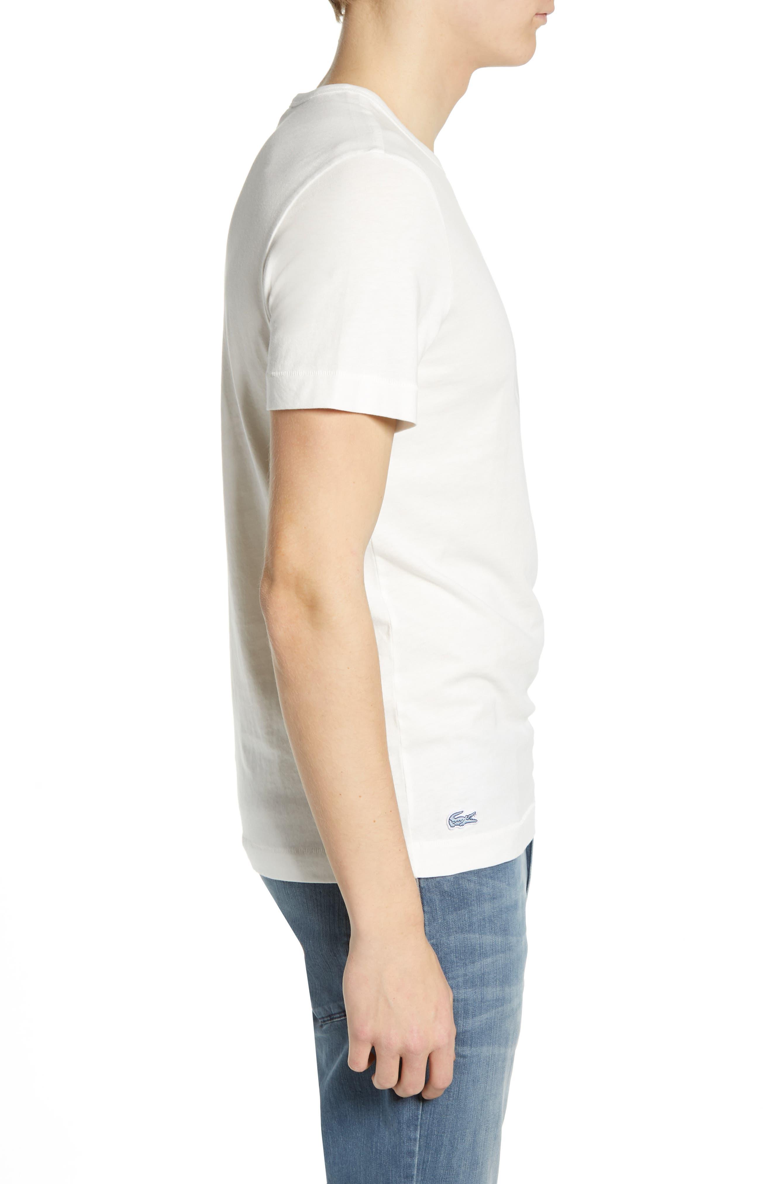 Regular Fit Logo T-Shirt,                             Alternate thumbnail 3, color,                             FLOUR