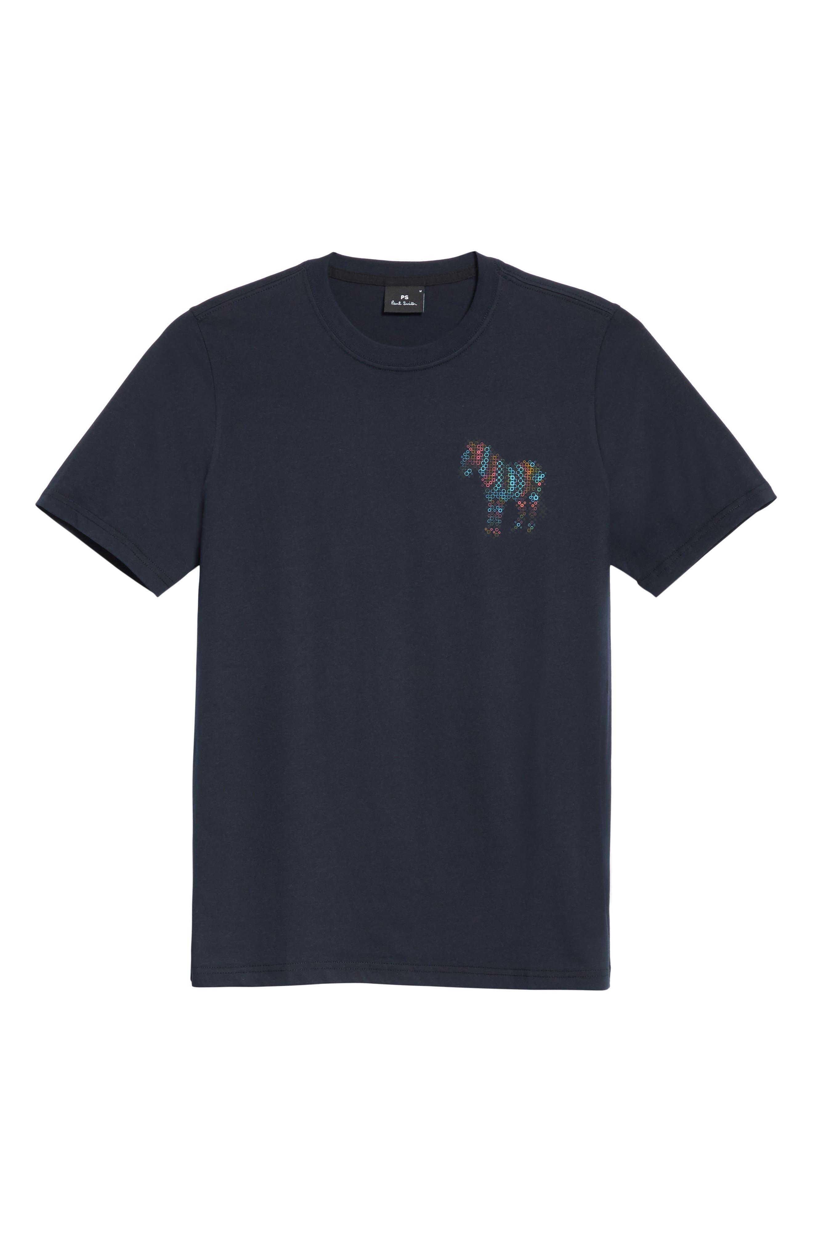 Dot Zebra Graphic T-Shirt,                             Alternate thumbnail 6, color,