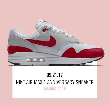 Nordstrom x Nike: new and hot Nike Air Max 1 Anniversary Sneaker.