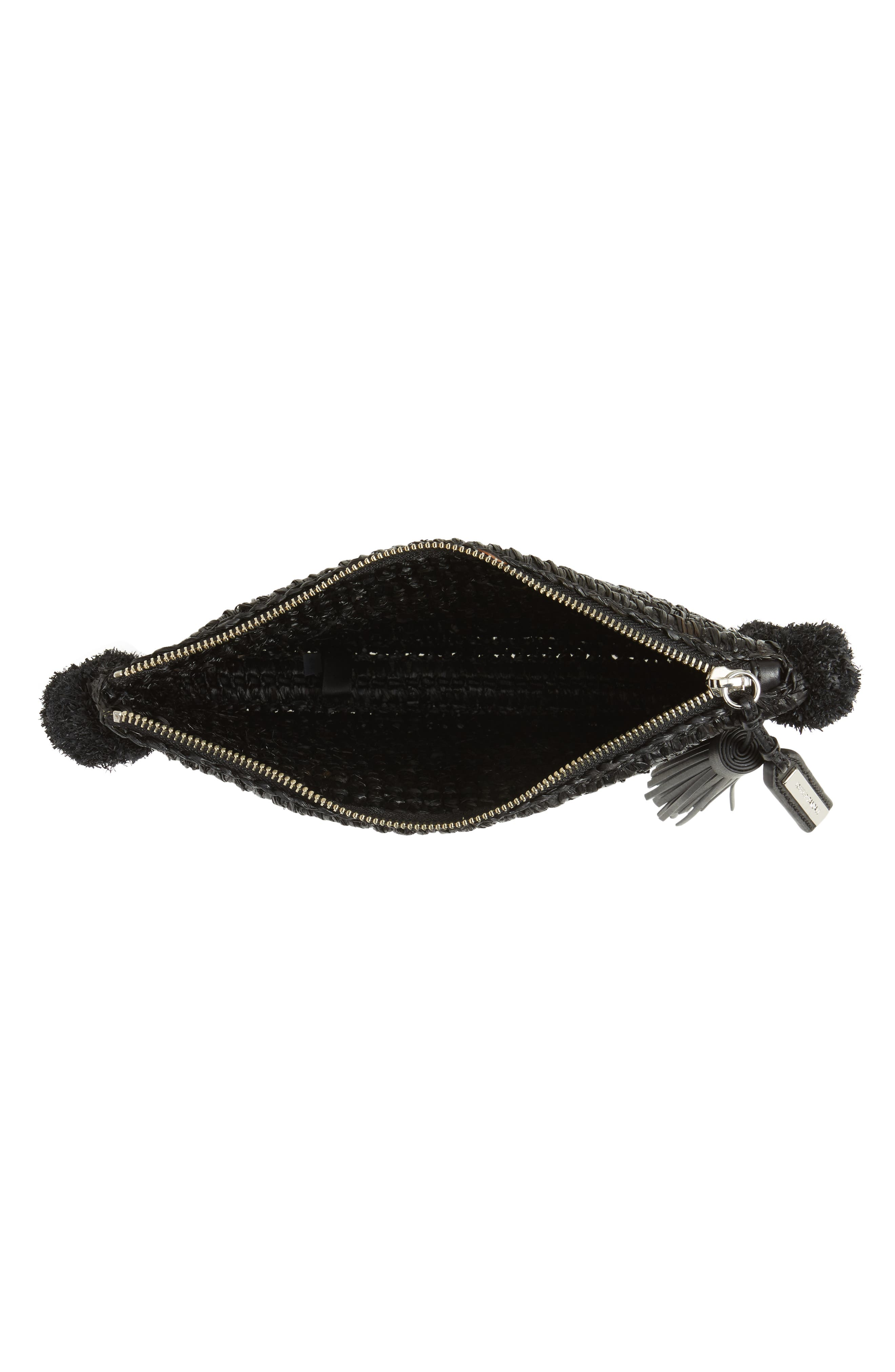 Straw Tassel Pouch,                             Alternate thumbnail 4, color,                             001