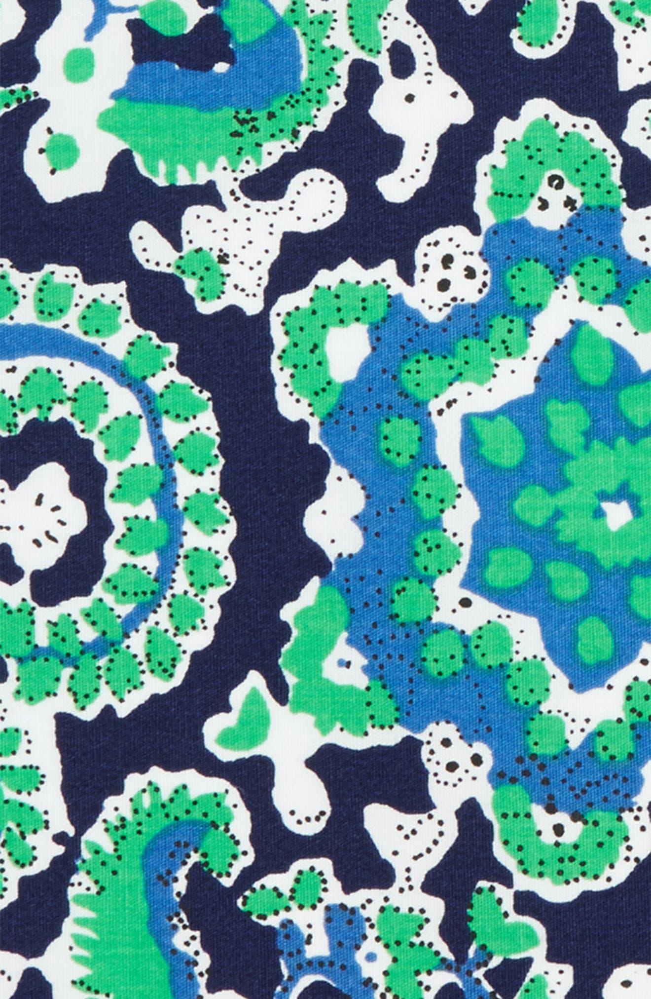 Green Plant Cotton Pocket Square,                             Alternate thumbnail 3, color,                             300