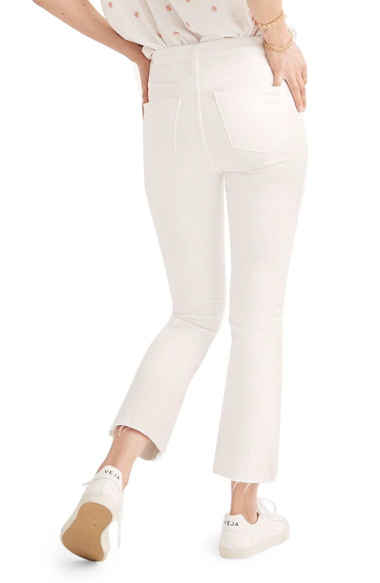 Cali Raw Edge Demi Boot Jeans,                             Alternate thumbnail 2, color,                             PURE WHITE
