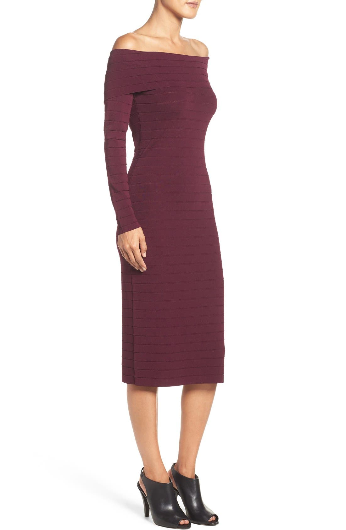 Bandage Midi Dress,                             Alternate thumbnail 32, color,