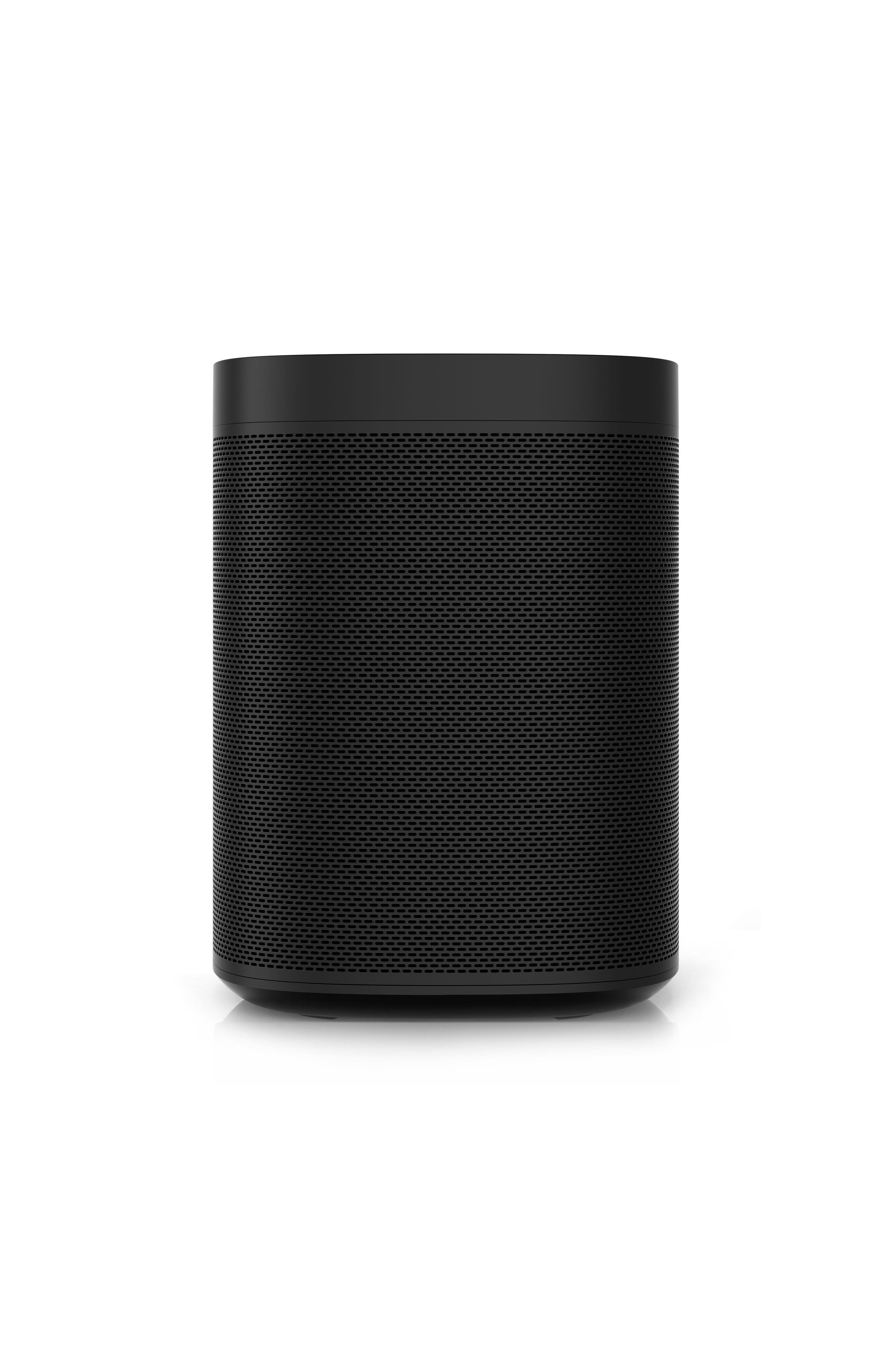 One Voice Controlled Smart Speaker,                             Alternate thumbnail 4, color,                             BLACK