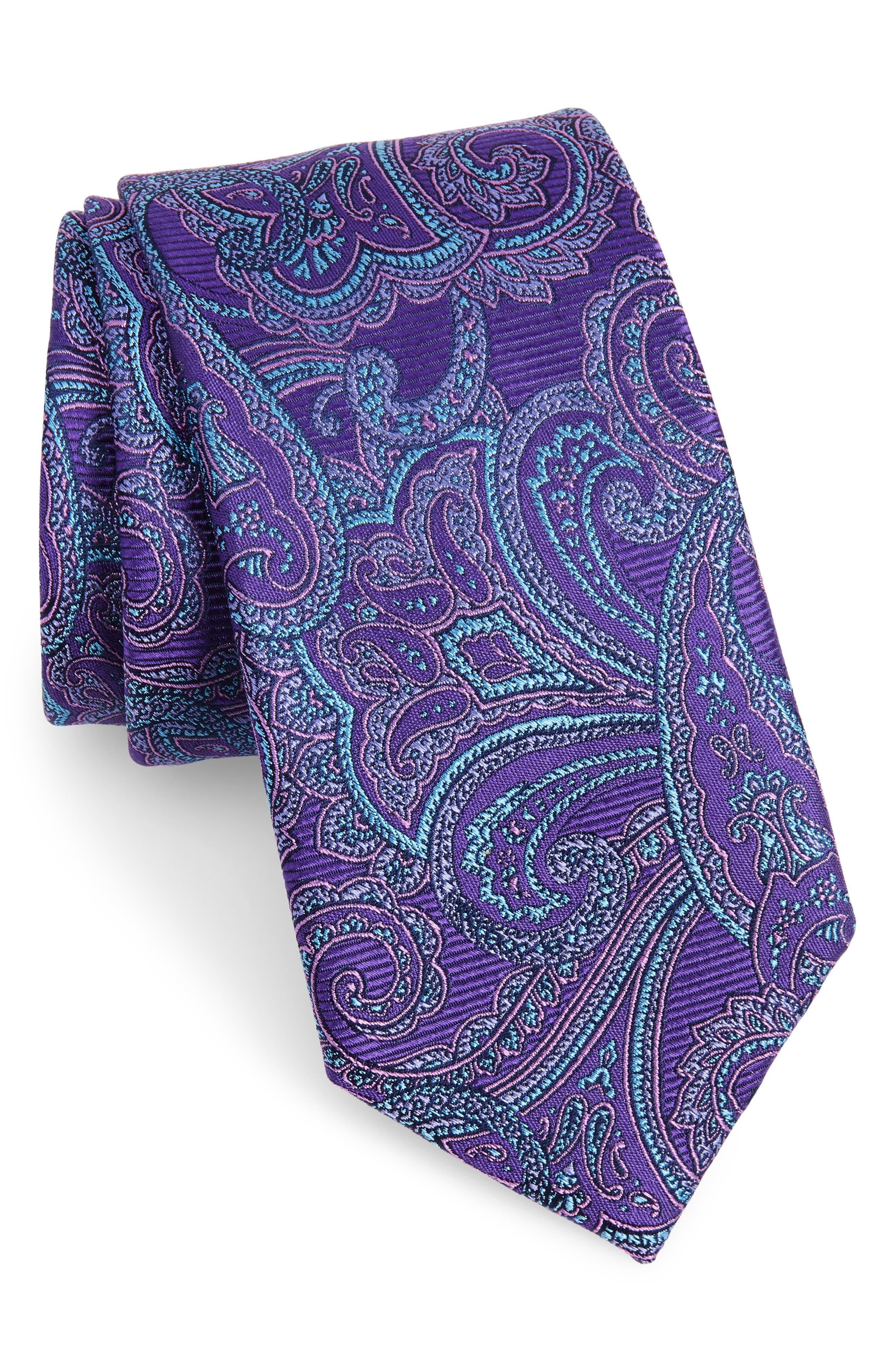 Avalon Paisley Silk Tie,                             Main thumbnail 5, color,
