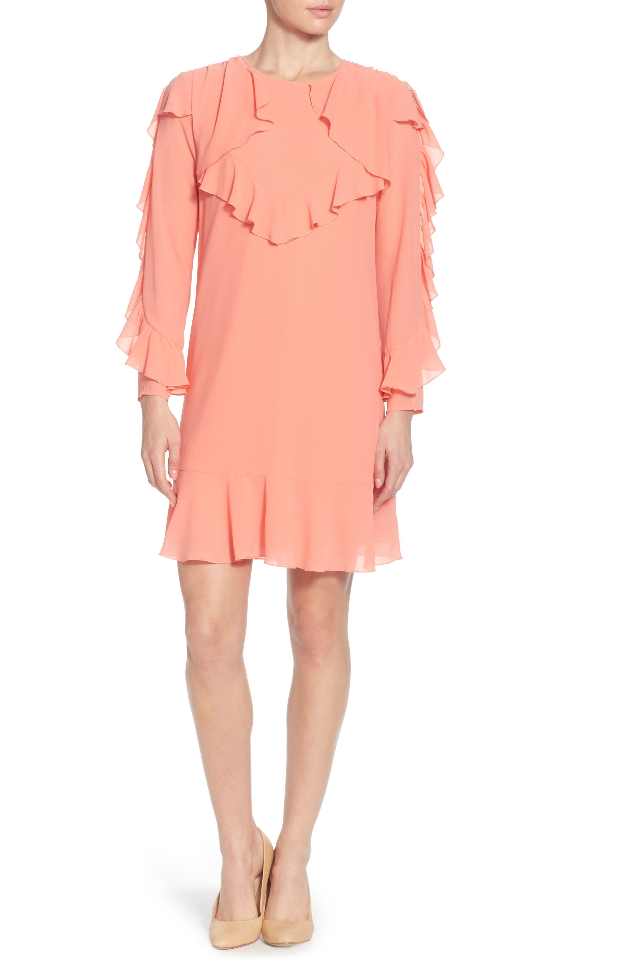 Keely Ruffle Dress,                         Main,                         color, 695