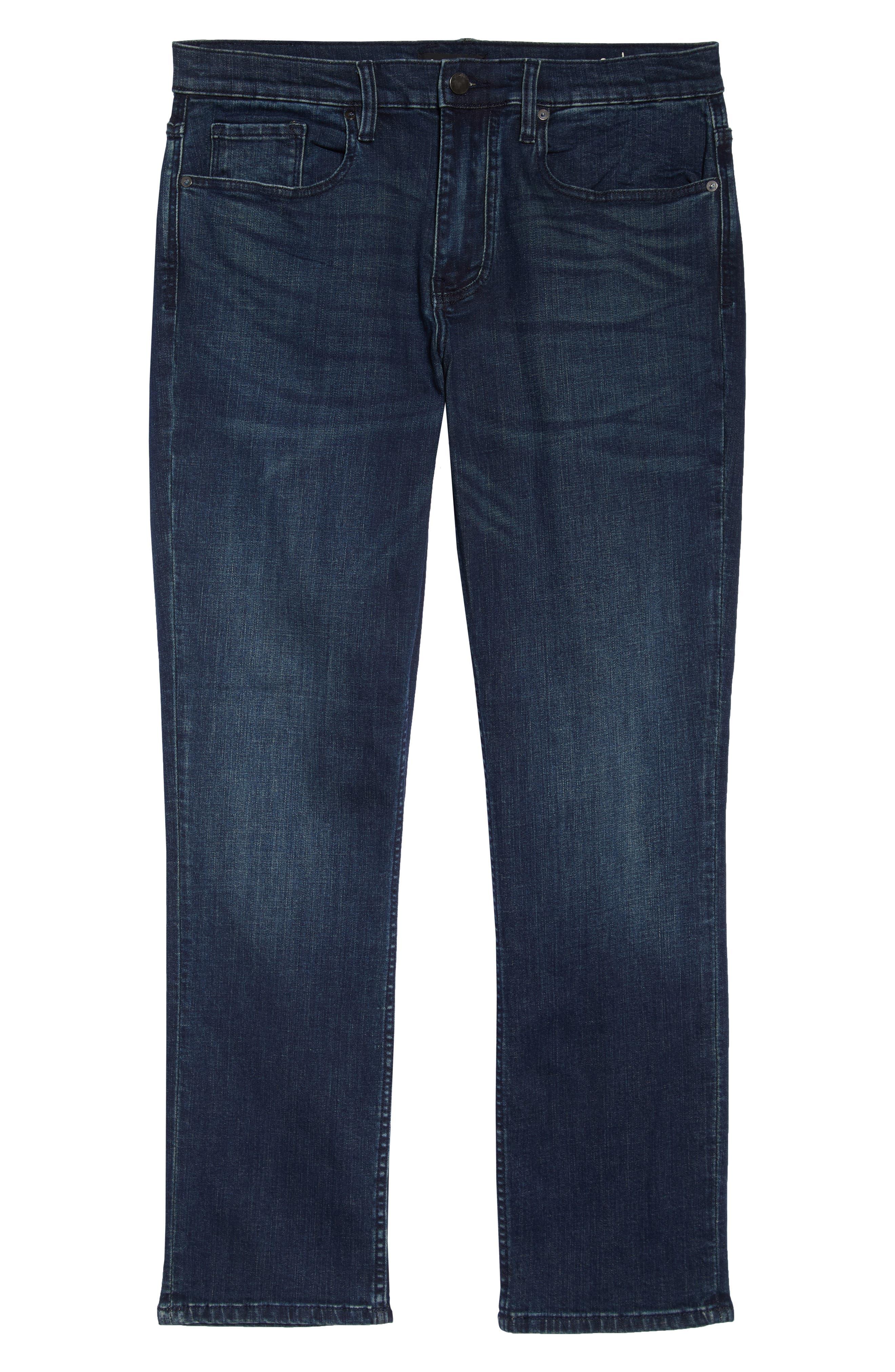 Stanton Straight Leg Jeans,                             Alternate thumbnail 6, color,                             WORTHLESS TENDENCY