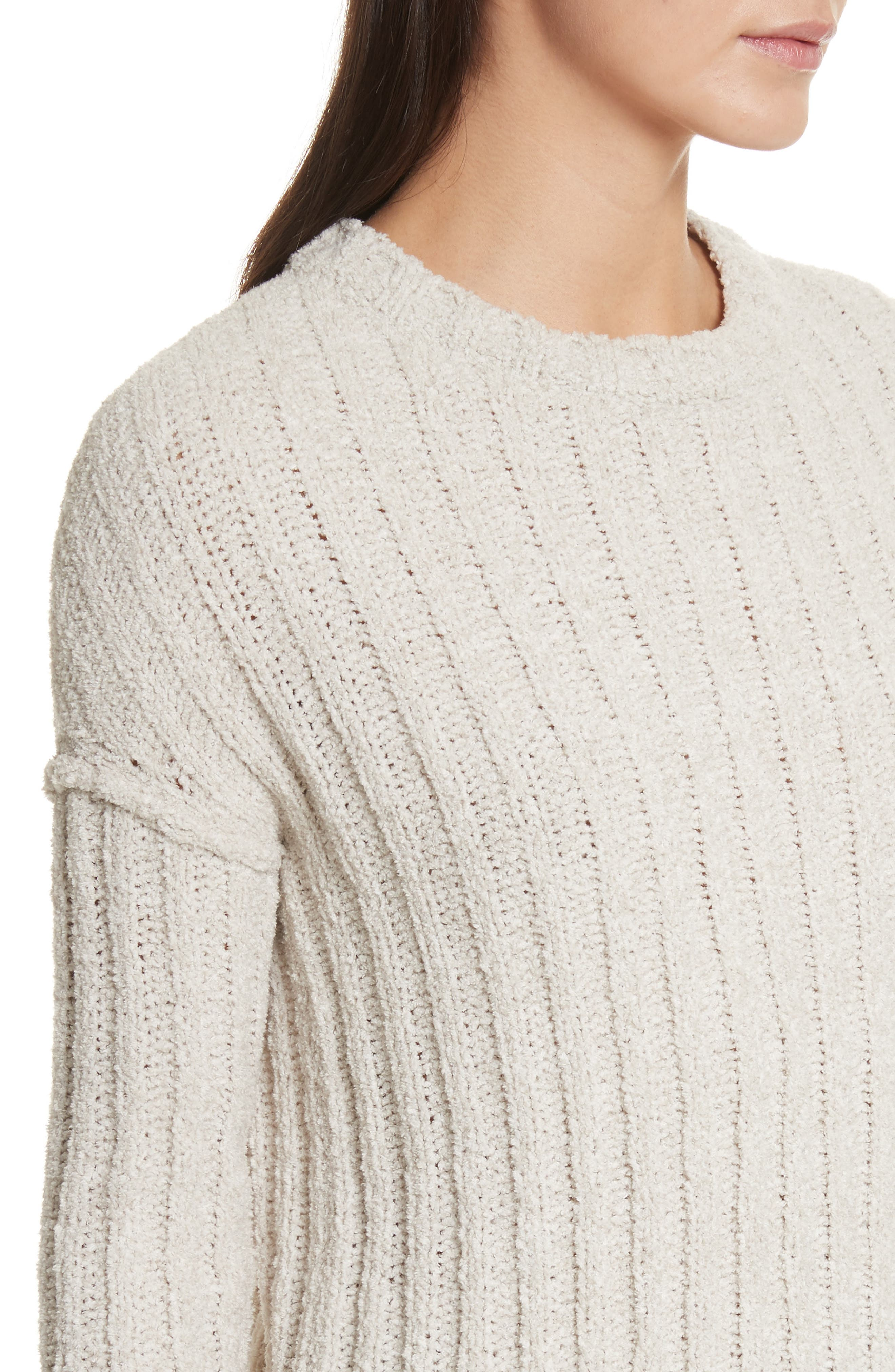 Chenille Crewneck Sweater,                             Alternate thumbnail 8, color,