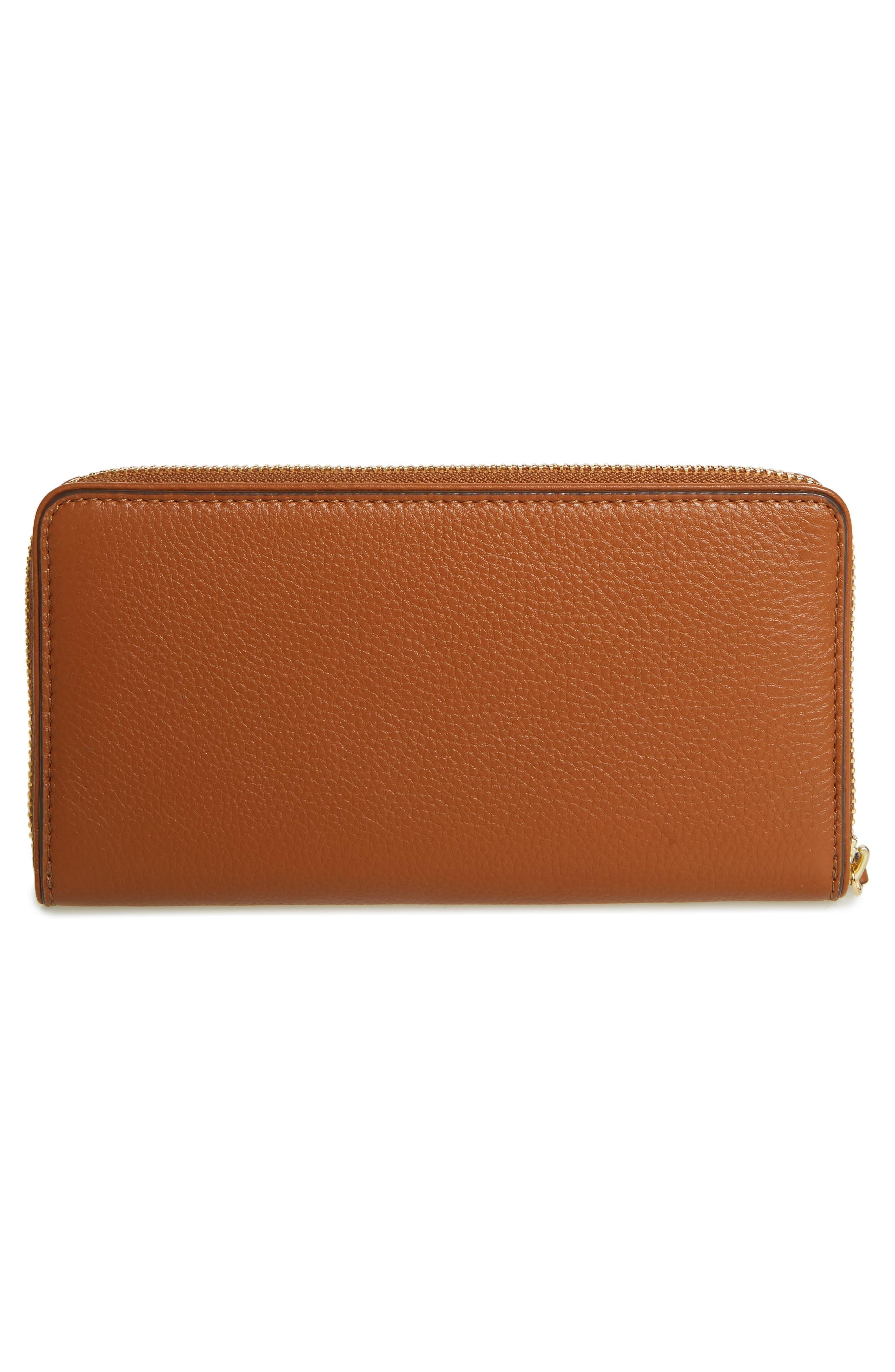 Marsden Leather Zip Around Wallet,                             Alternate thumbnail 8, color,