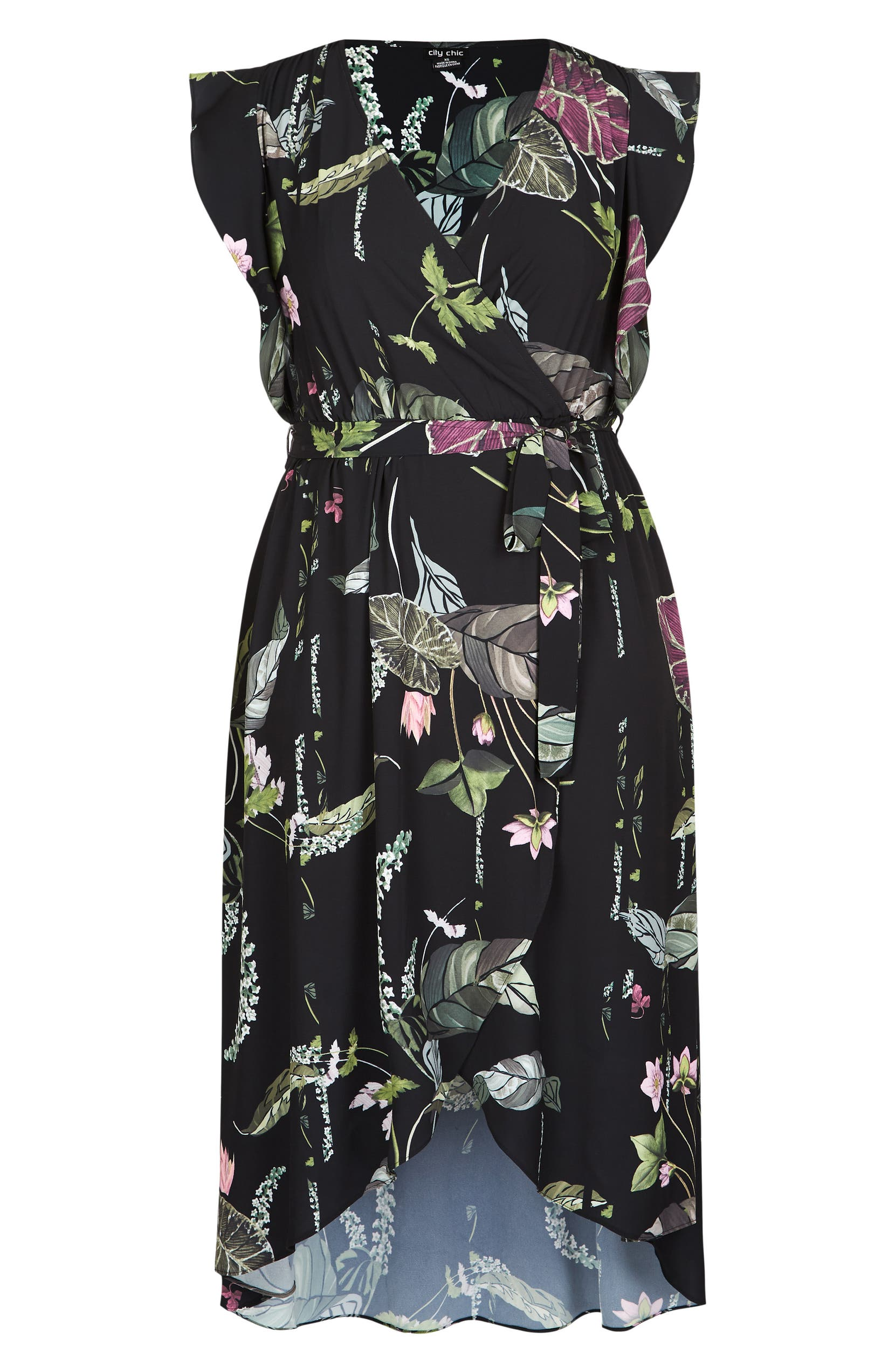 be61959a67c City Chic Lily Pad Faux Wrap Maxi Dress (Plus Size)