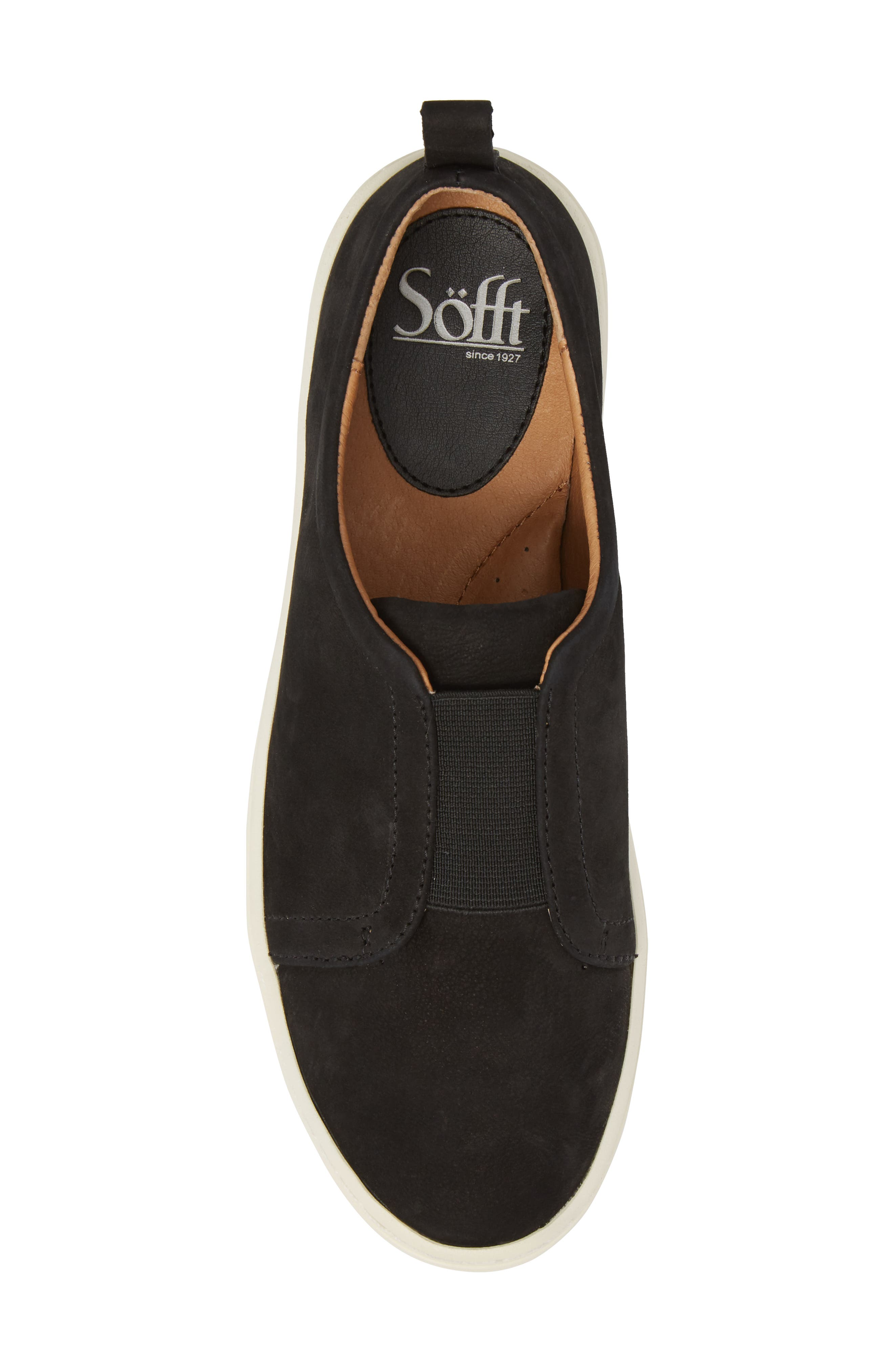 Safia Slip-On Sneaker,                             Alternate thumbnail 5, color,                             TRUE BLACK LEATHER