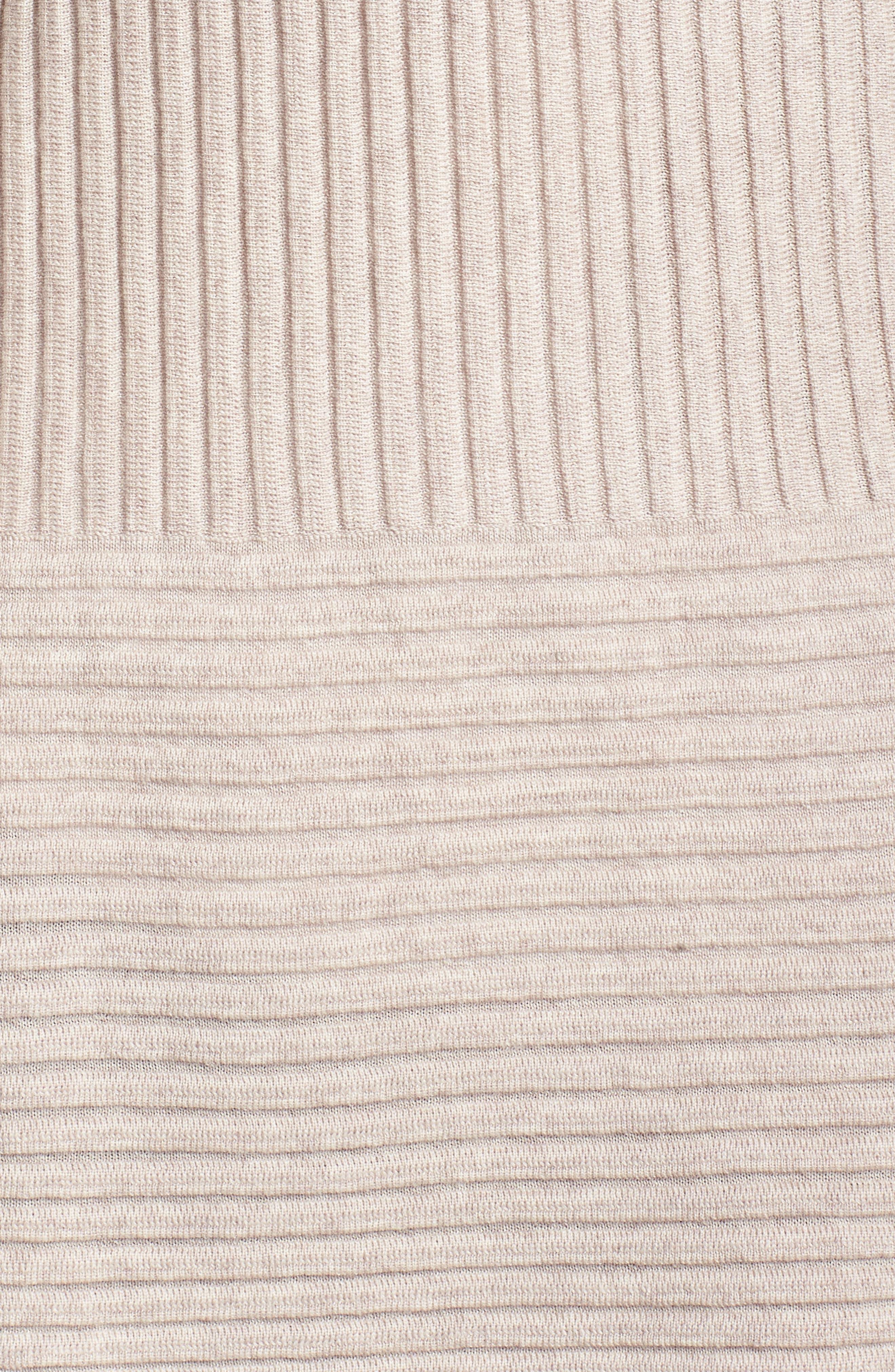 Ribbed Merino Wool Long Cardigan,                             Alternate thumbnail 19, color,