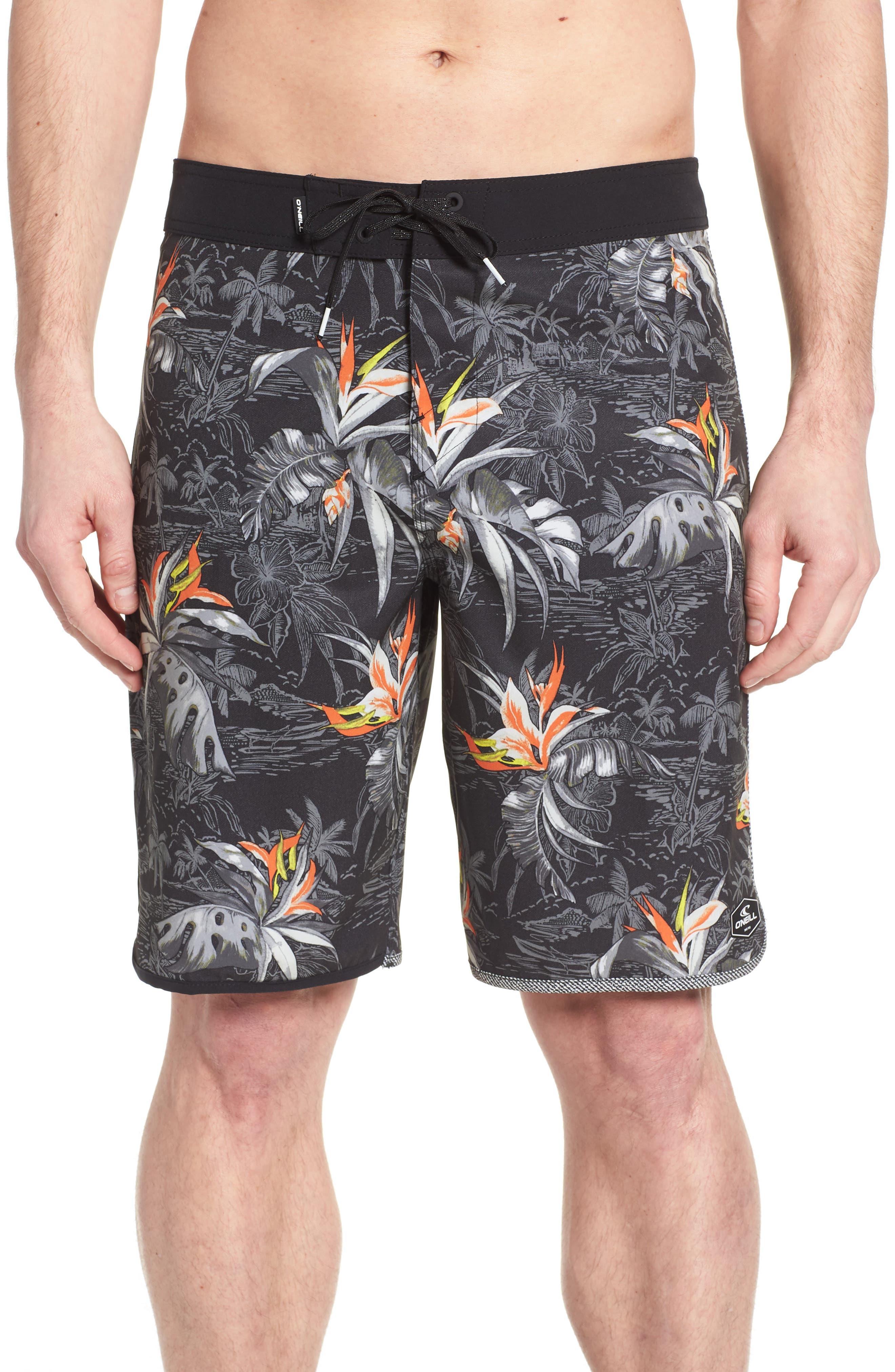 O'NEILL,                             Hyperfreak Islander Board Shorts,                             Main thumbnail 1, color,                             001