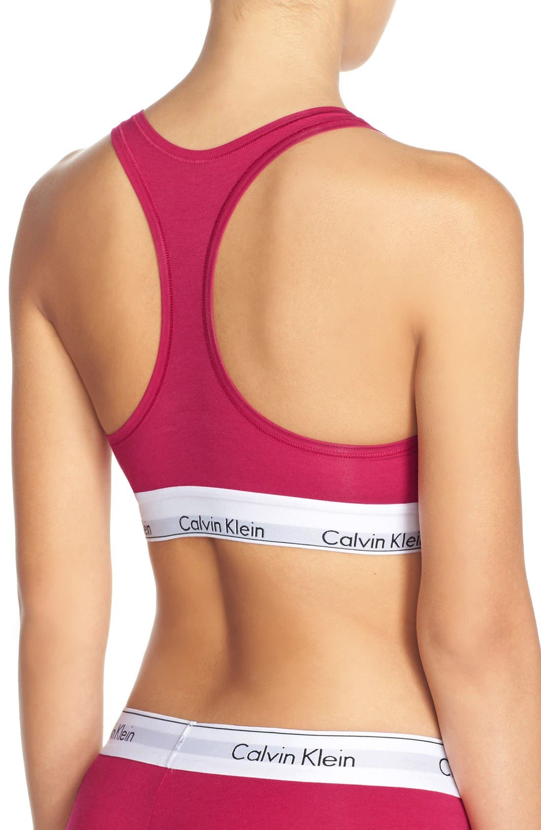 Modern Cotton Collection Cotton Blend Racerback Bralette,                             Alternate thumbnail 119, color,
