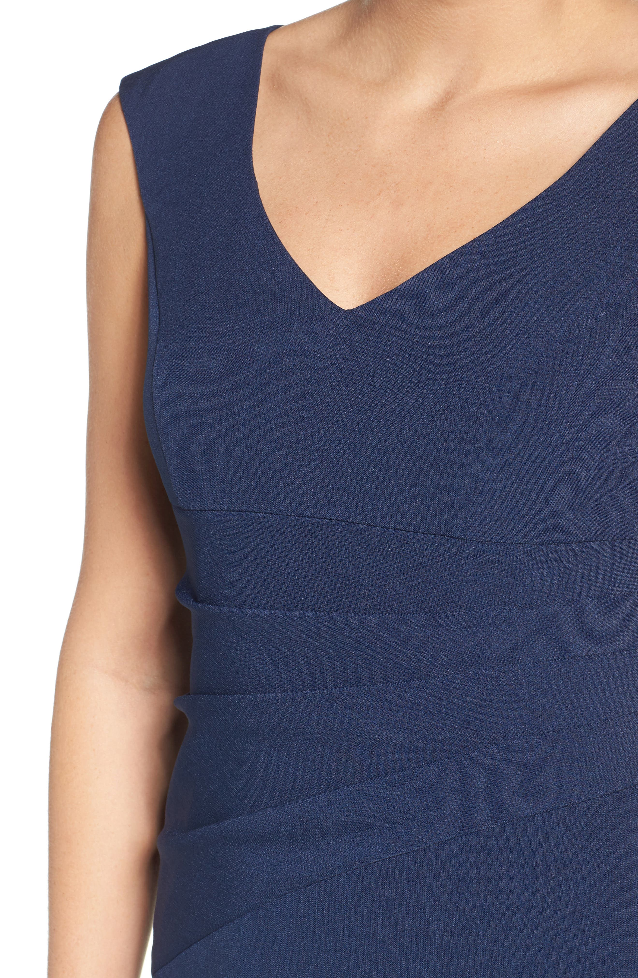 Crepe Sheath Dress,                             Alternate thumbnail 7, color,