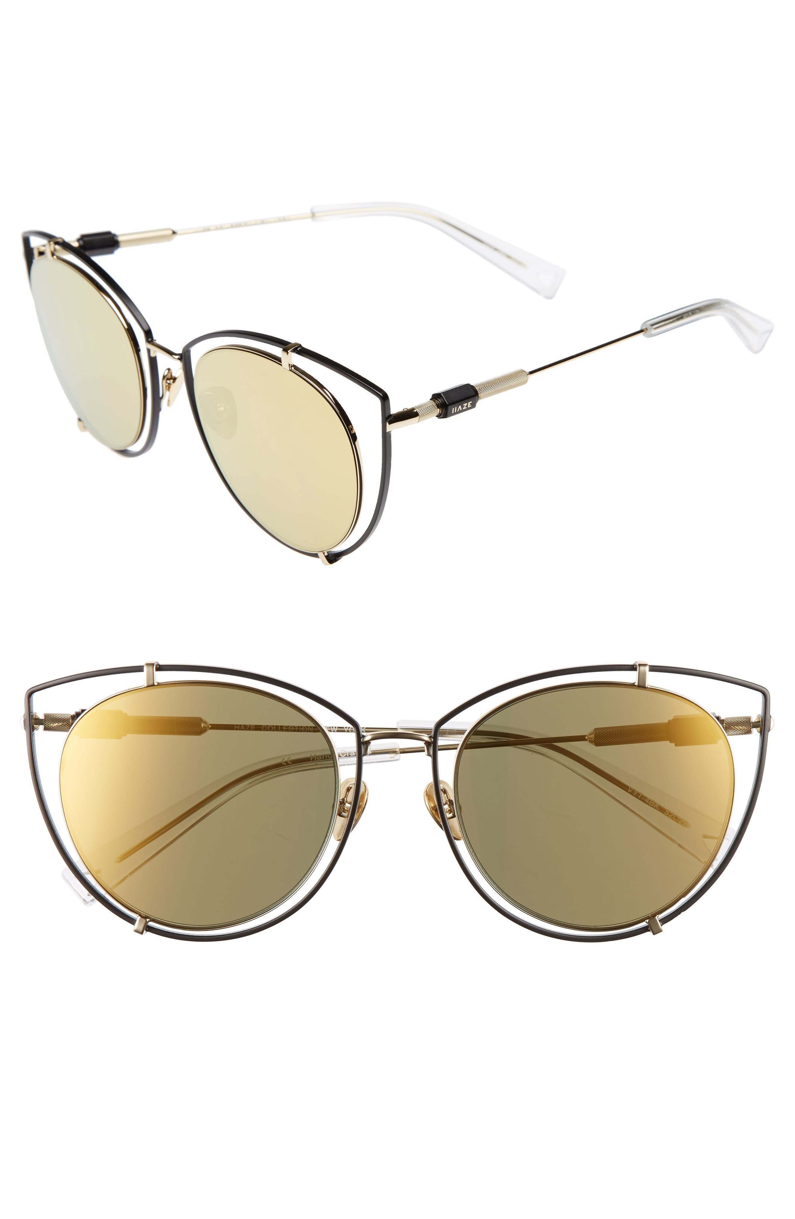 Vyt 53mm Cat Eye Sunglasses,                         Main,                         color, 001
