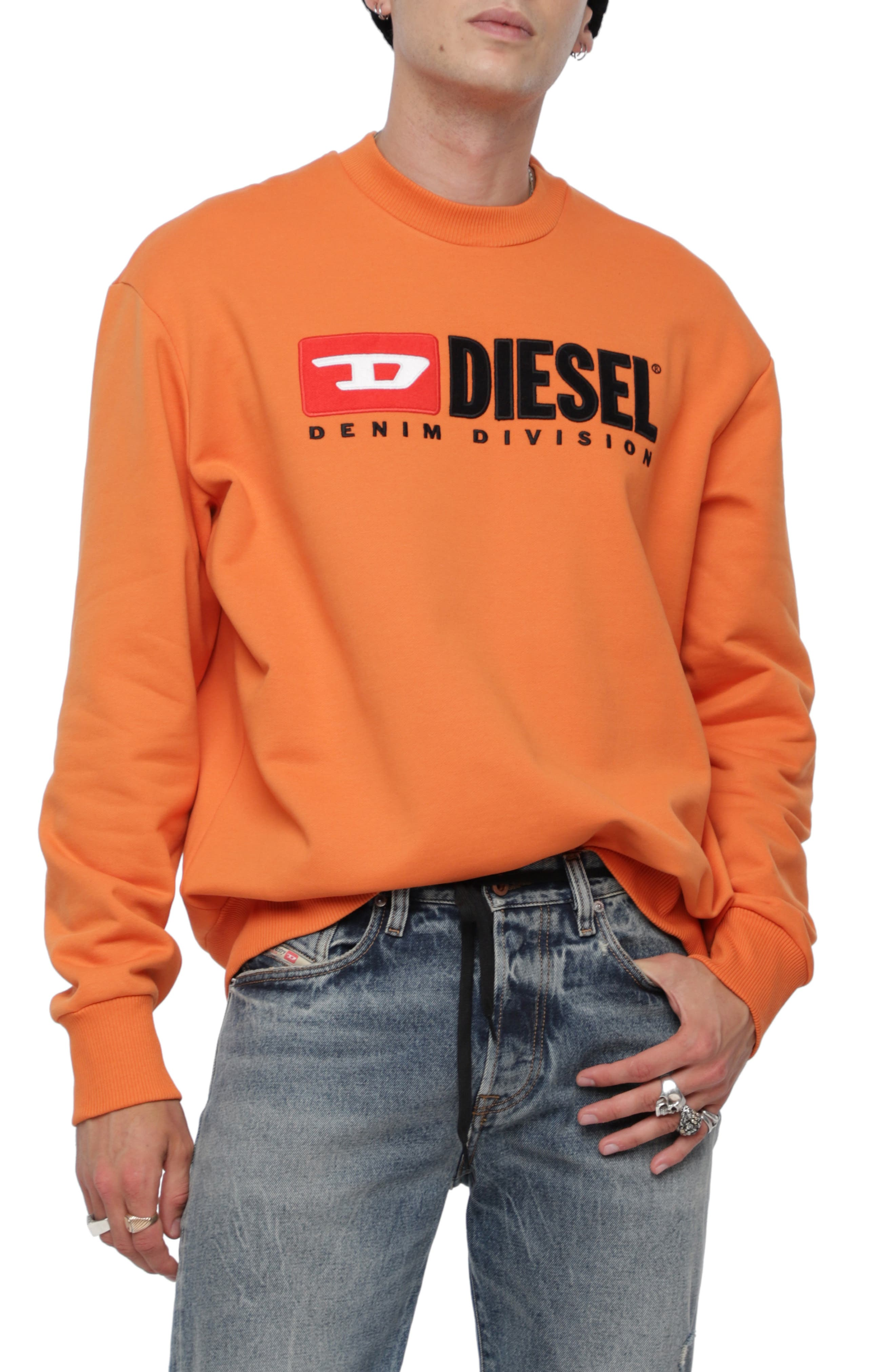 S-CREW-DIVISION Sweatshirt,                         Main,                         color, ORANGE