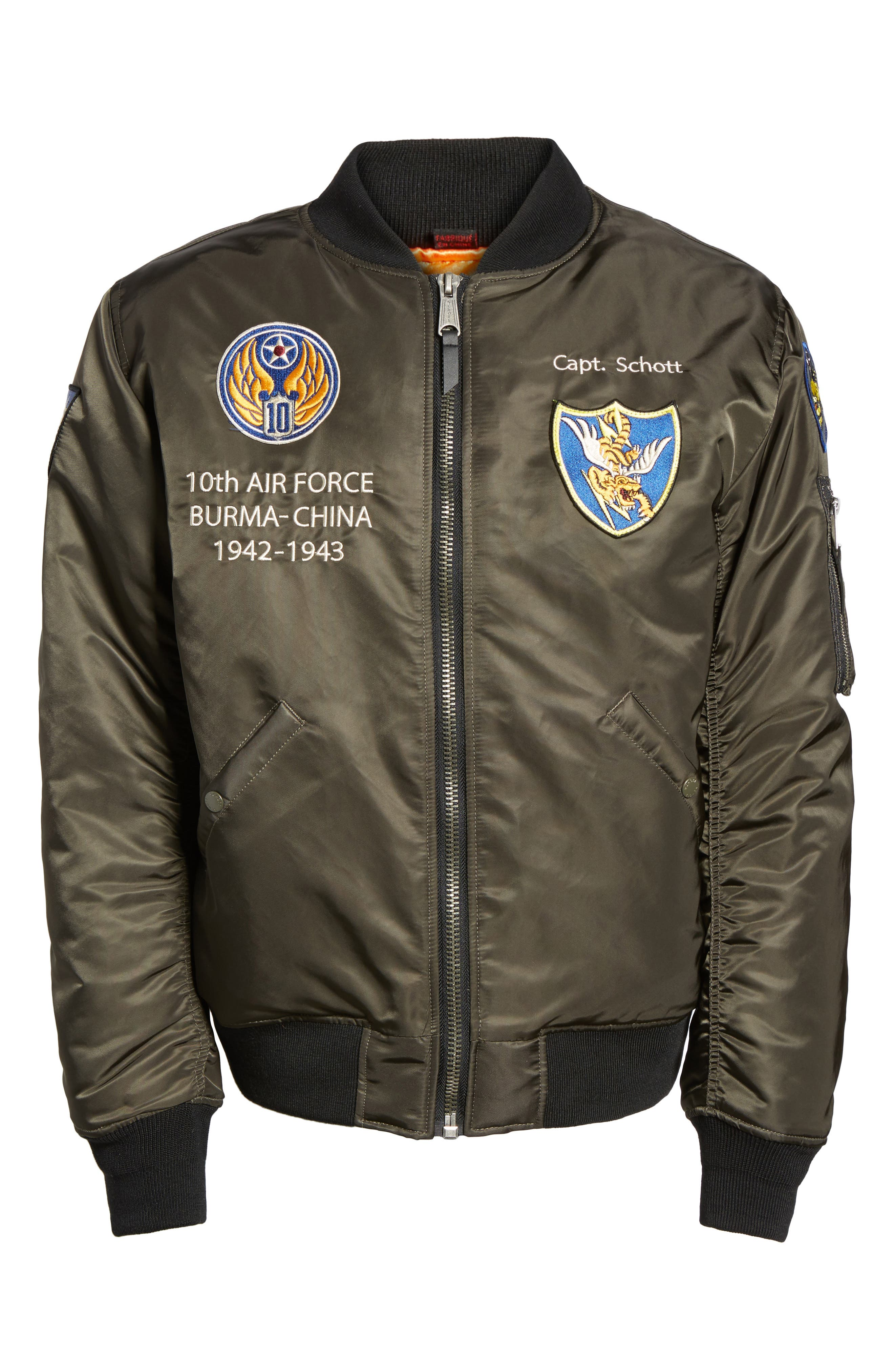 Highly Decorated Embroidered Flight Jacket,                             Alternate thumbnail 10, color,