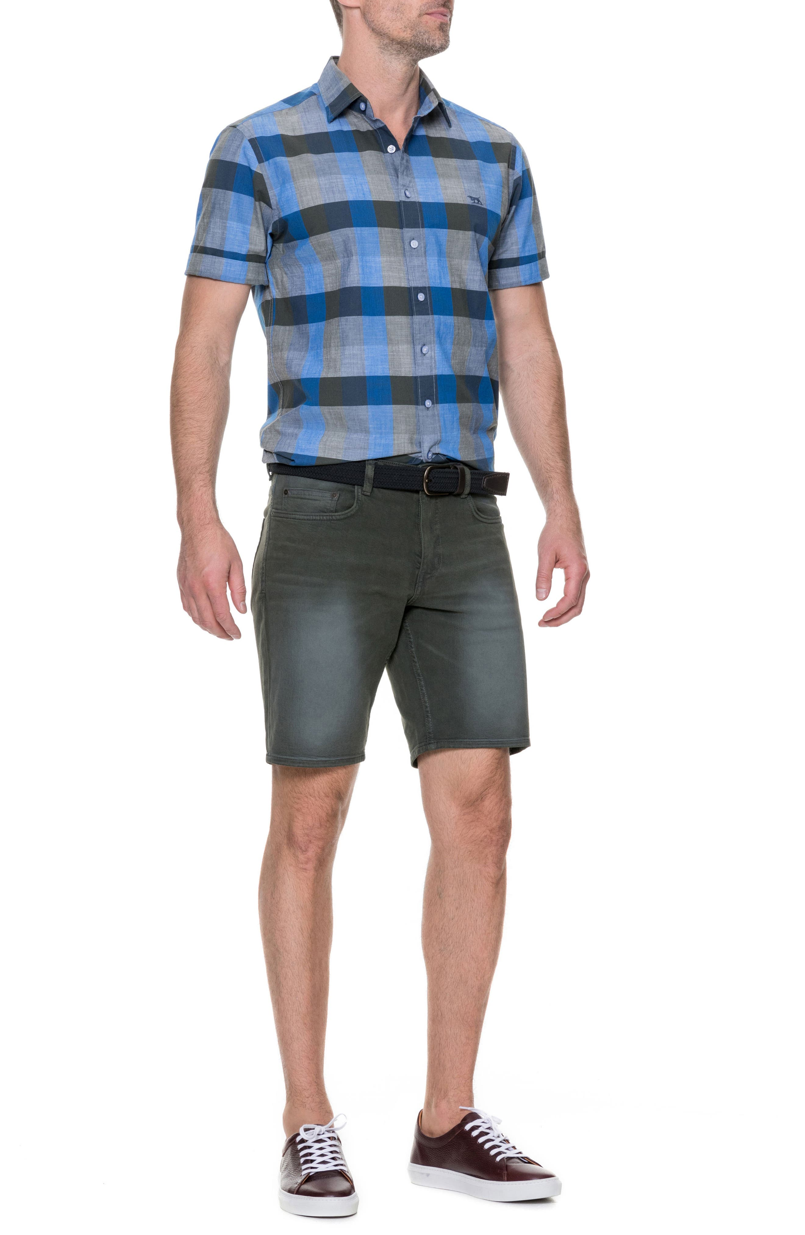 Knighton Regular Fit Sport Shirt,                             Alternate thumbnail 7, color,                             RIVER