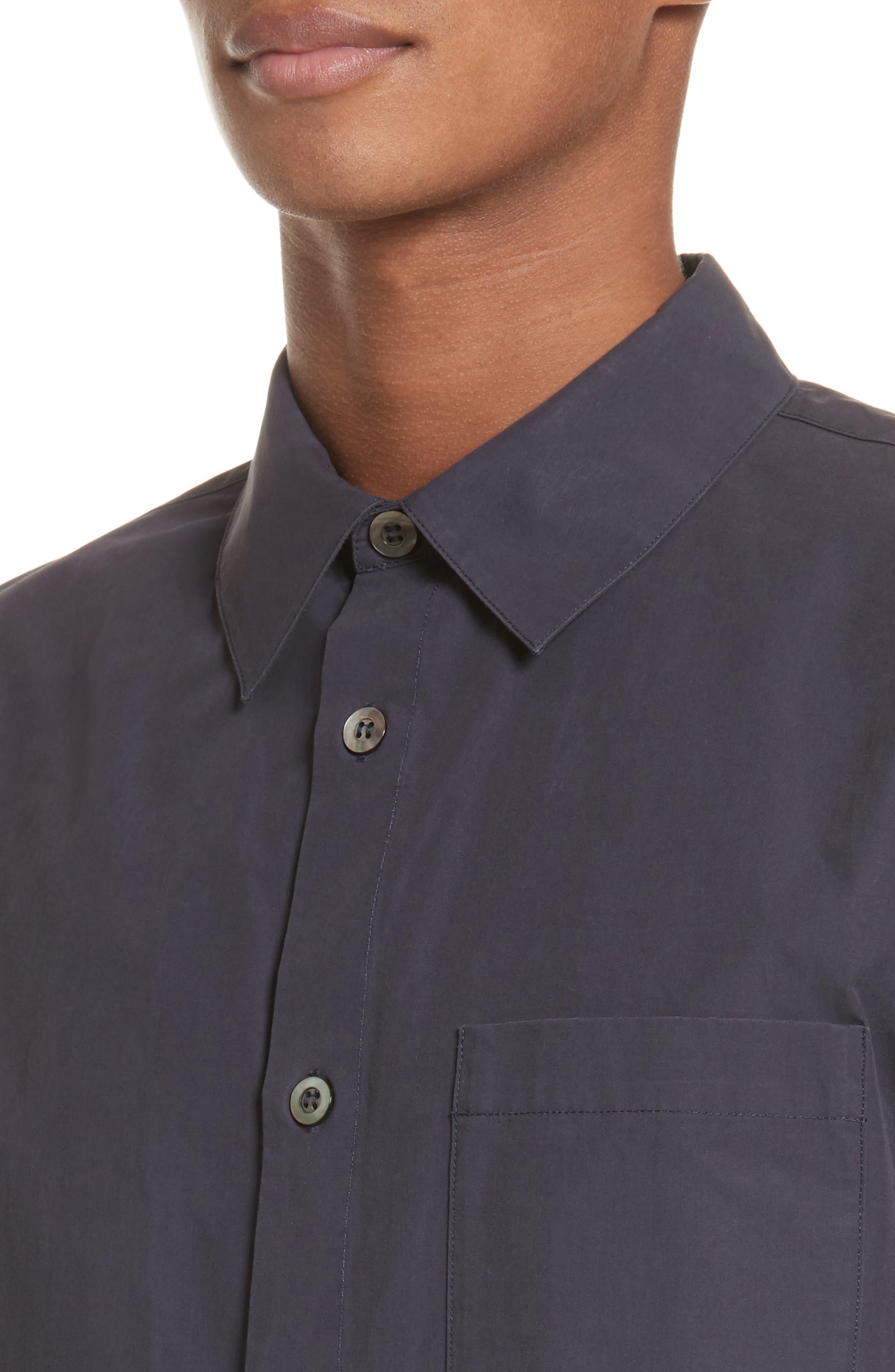 Cippi Poplin Woven Shirt,                             Alternate thumbnail 4, color,                             410