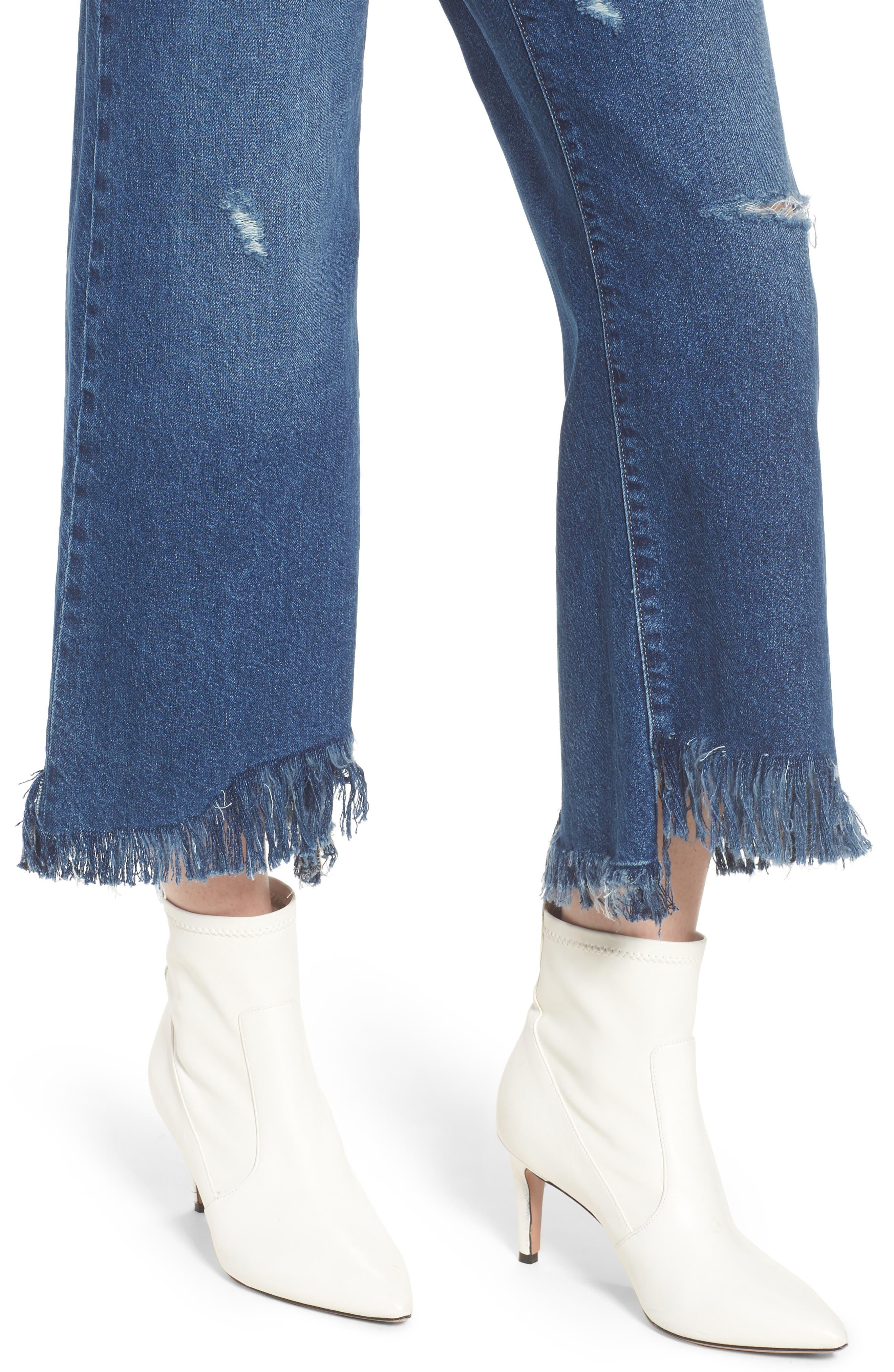 Hepburn High Waist Wide Leg Jeans,                             Alternate thumbnail 4, color,