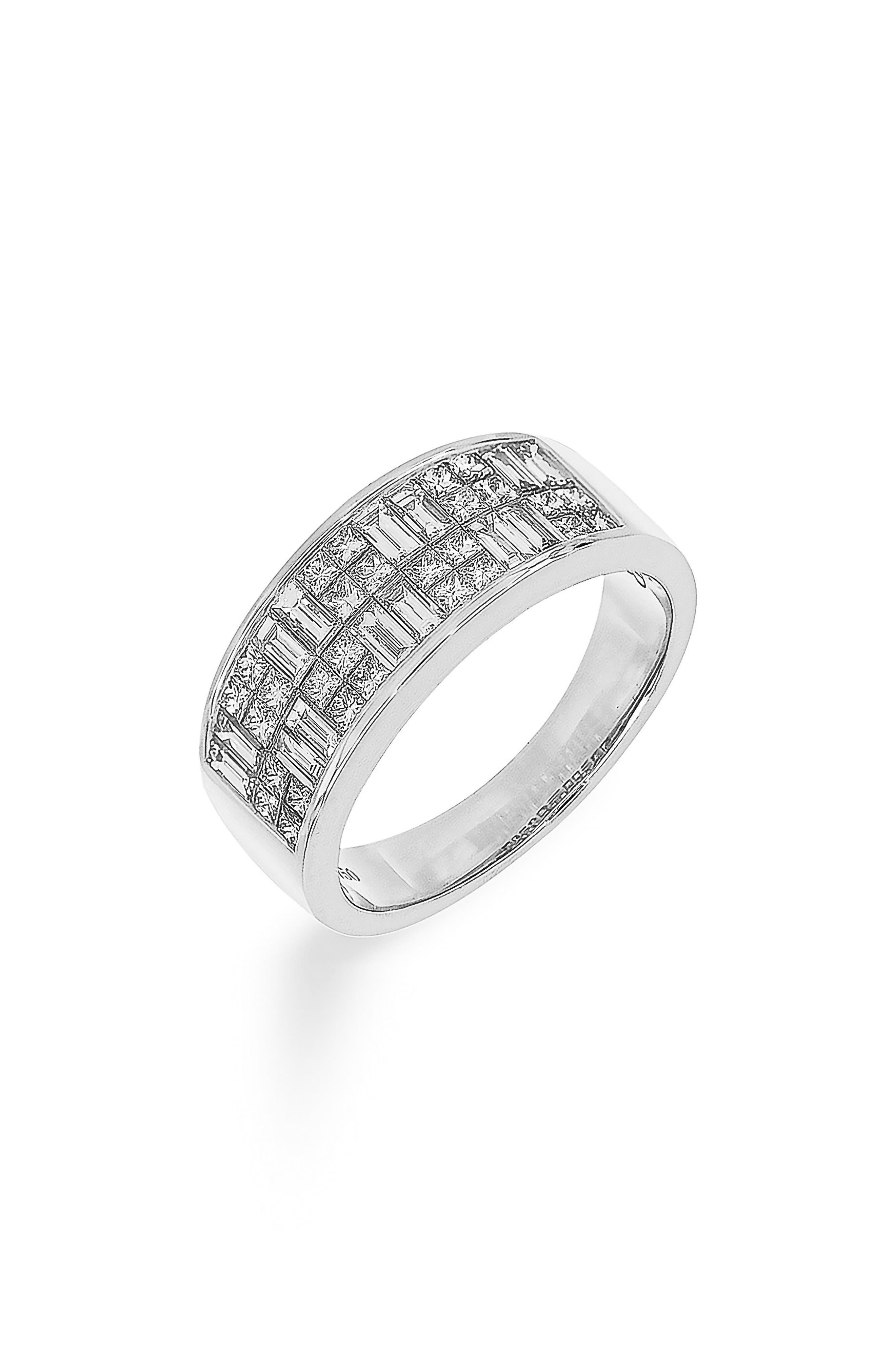 Mixed Shape Diamond Ring,                         Main,                         color, WHITE GOLD