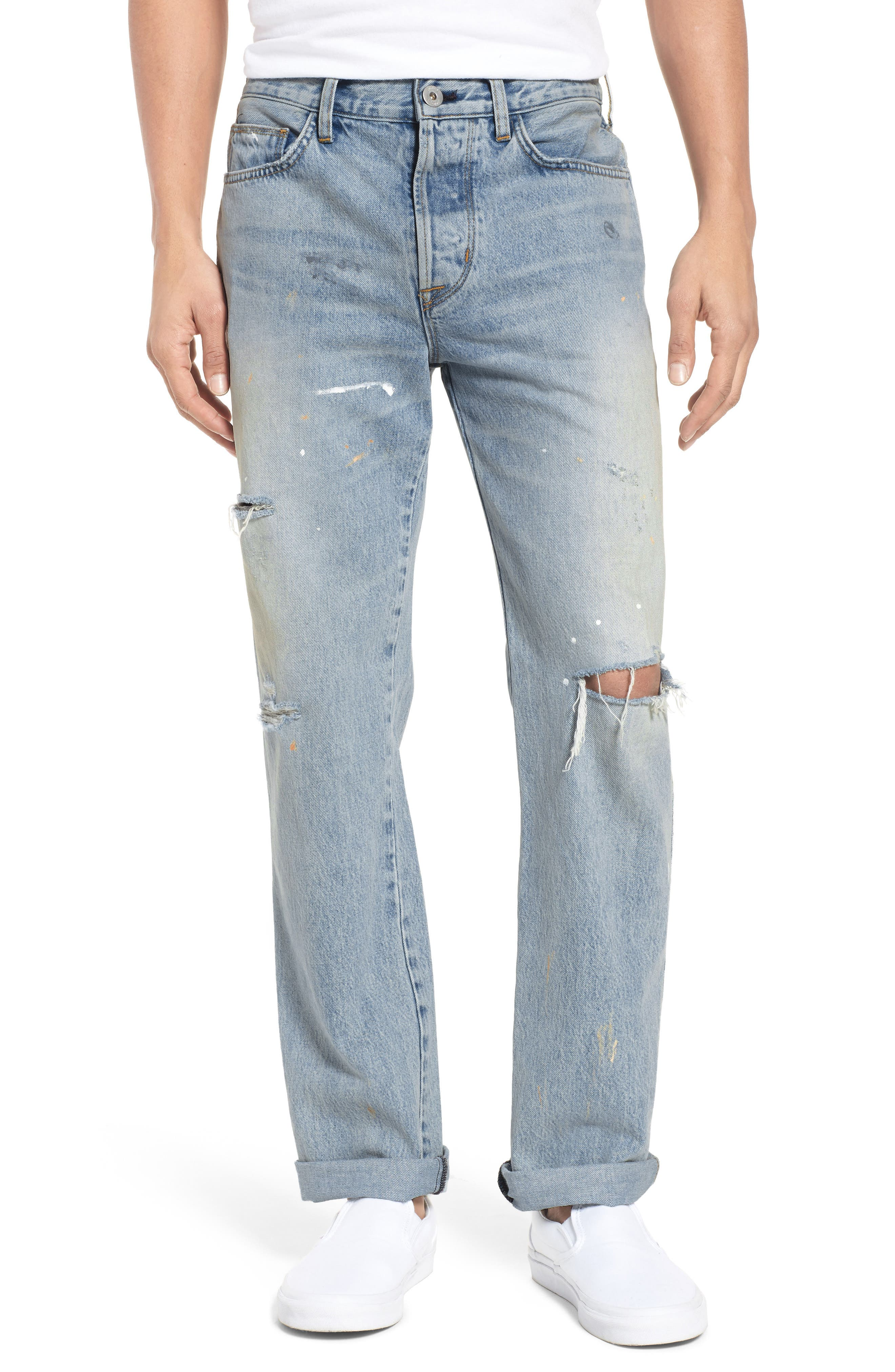 Dixon Straight Fit Jeans,                             Main thumbnail 1, color,