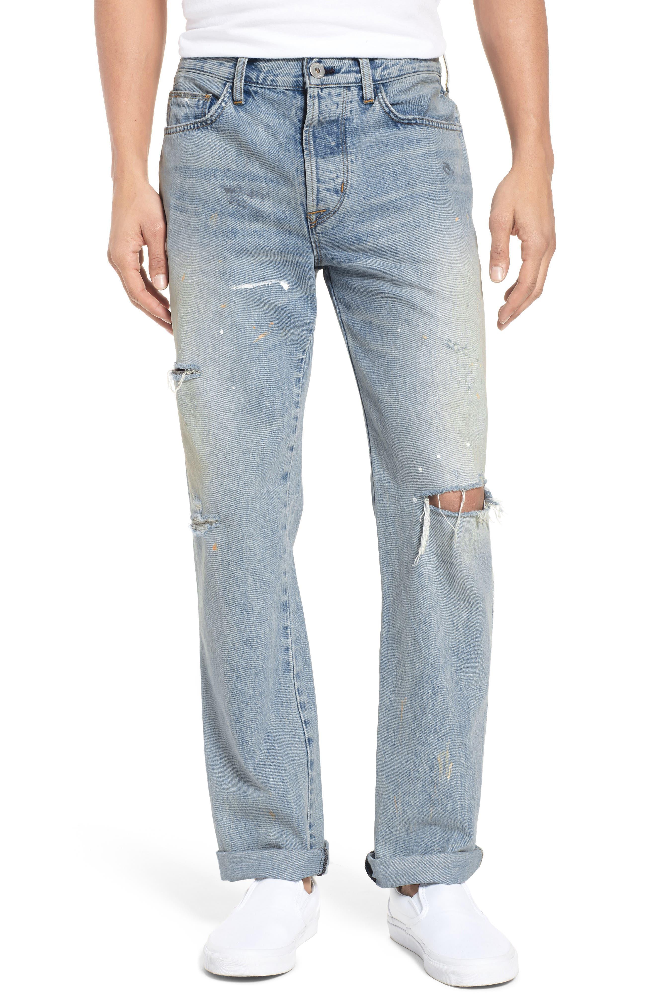 Dixon Straight Fit Jeans,                             Main thumbnail 1, color,                             451