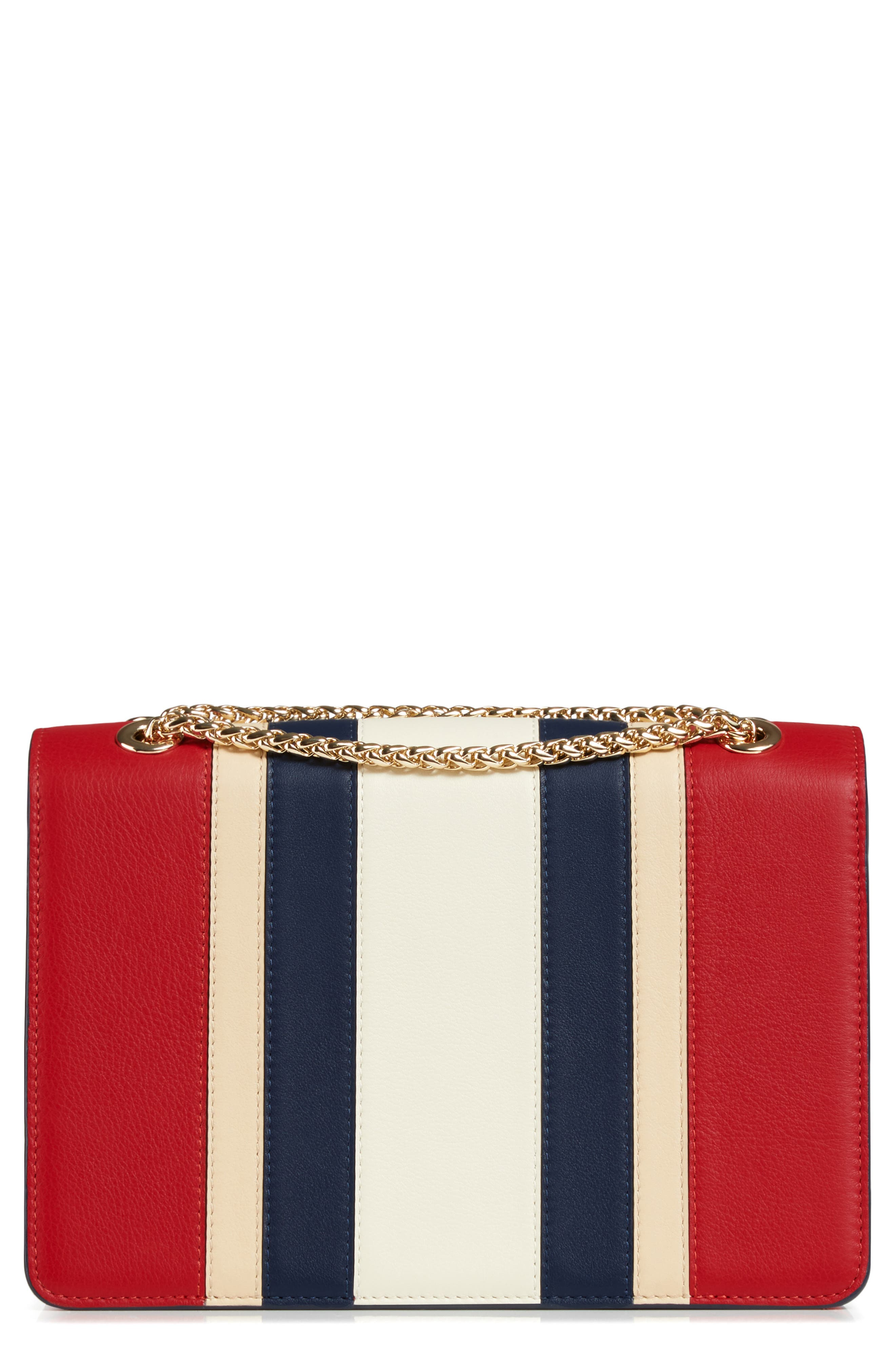 East/West Stripe Leather Crossbody Bag,                             Alternate thumbnail 2, color,                             600