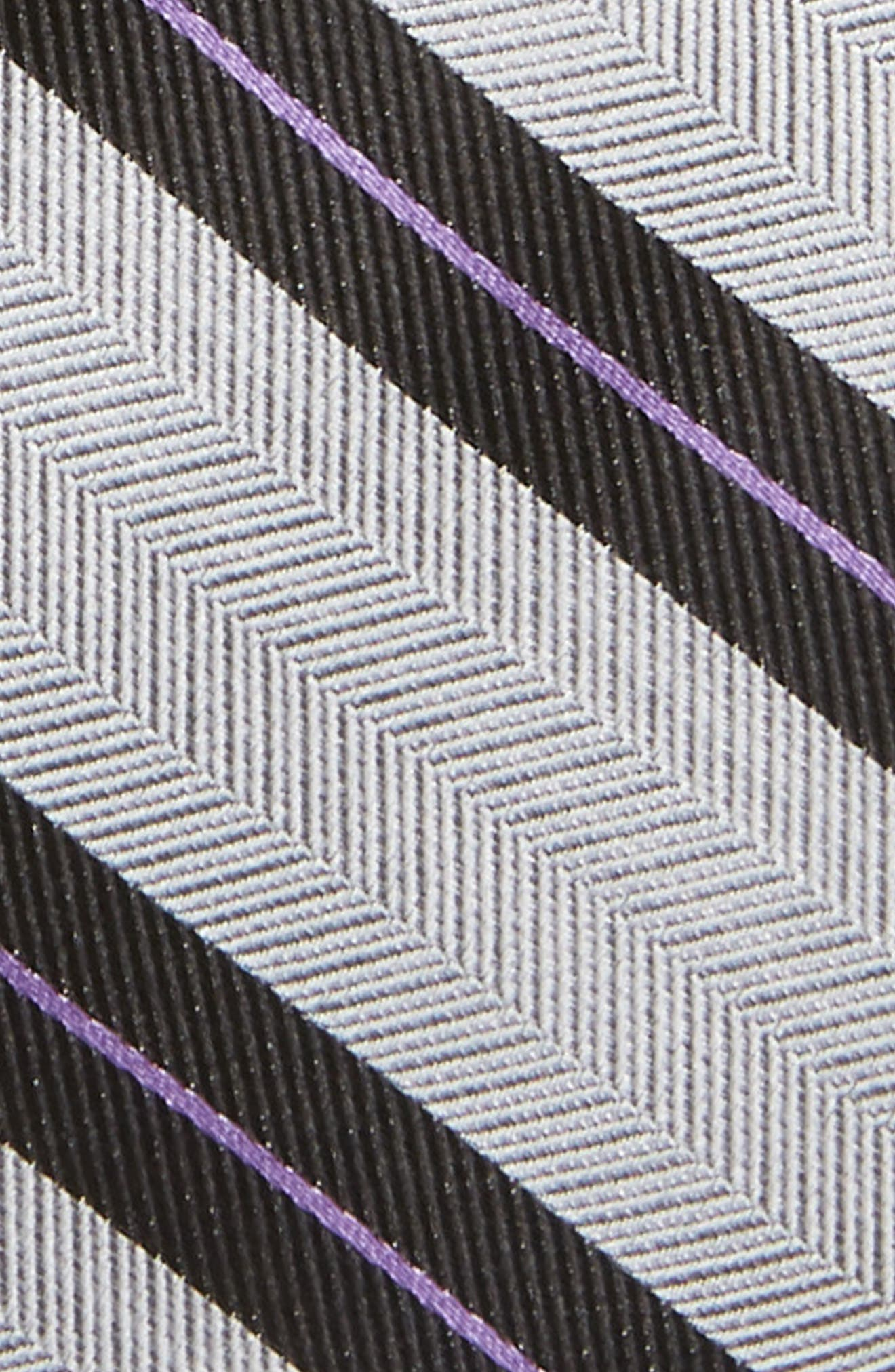 Stripe Silk Tie,                             Alternate thumbnail 2, color,                             GREY
